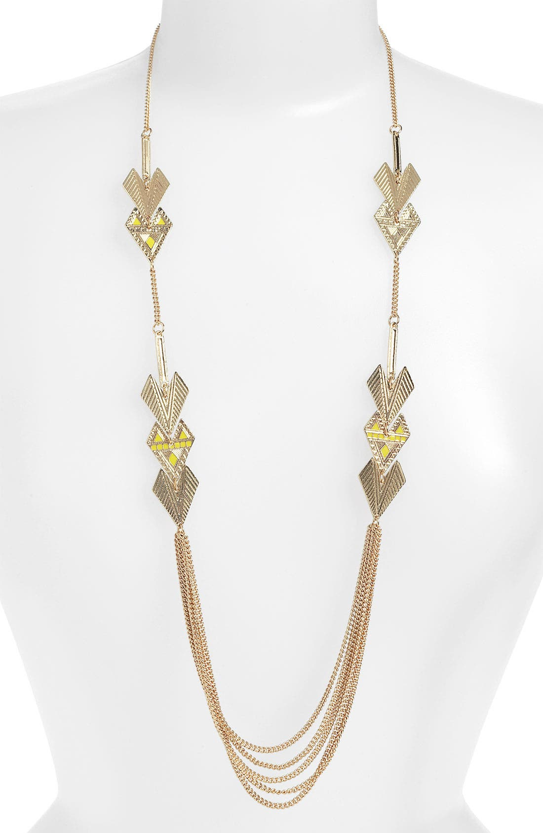 Alternate Image 1 Selected - Stephan & Co. Arrow Layering Necklace