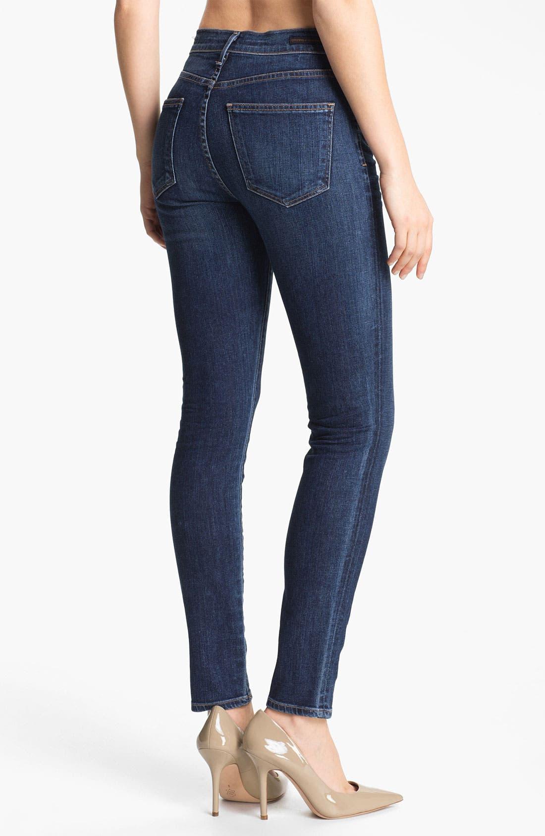 Alternate Image 2  - Citizens of Humanity 'Rocket' High Rise Skinny Jeans (Crispy)