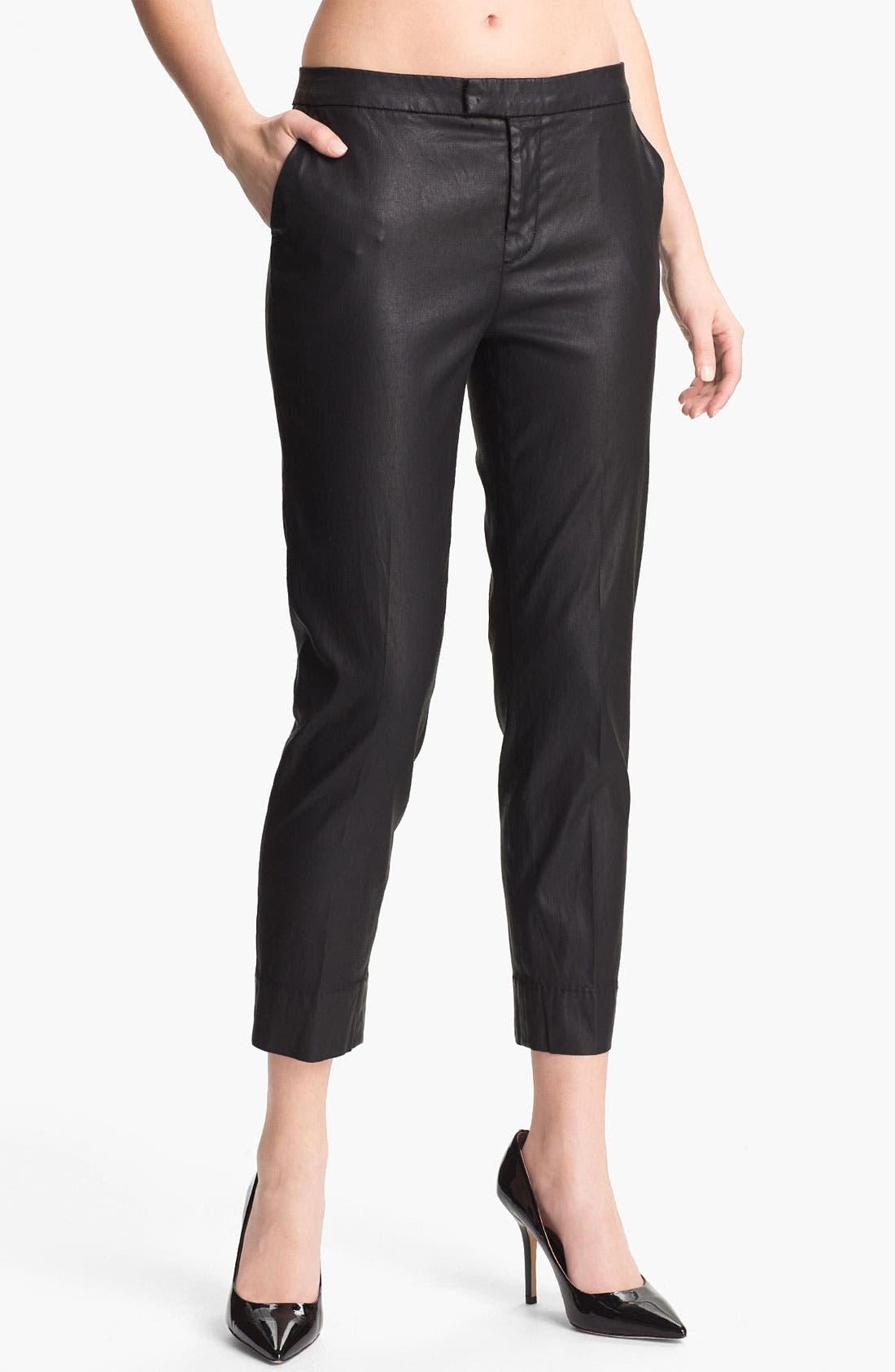 Alternate Image 1 Selected - 7 For All Mankind® Coated Slim Chinos