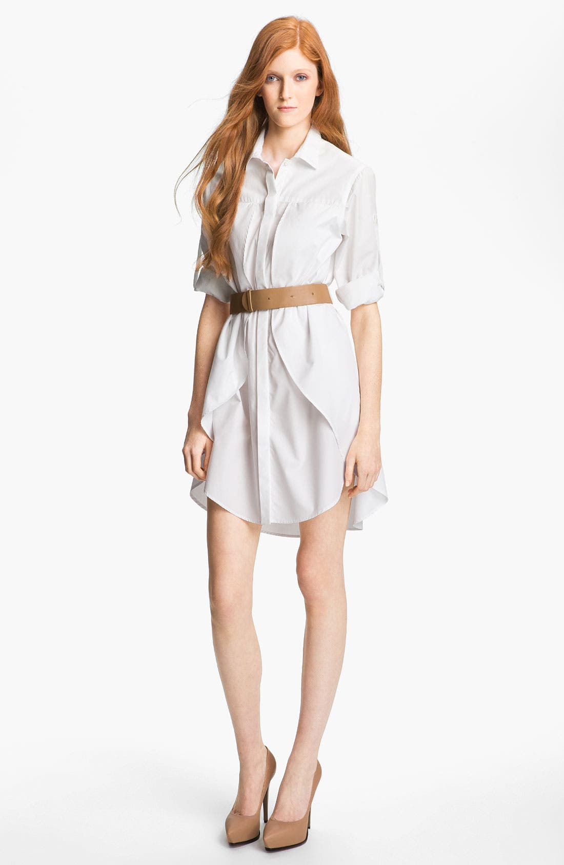Alternate Image 1 Selected - Halston Heritage Belted Shirtdress