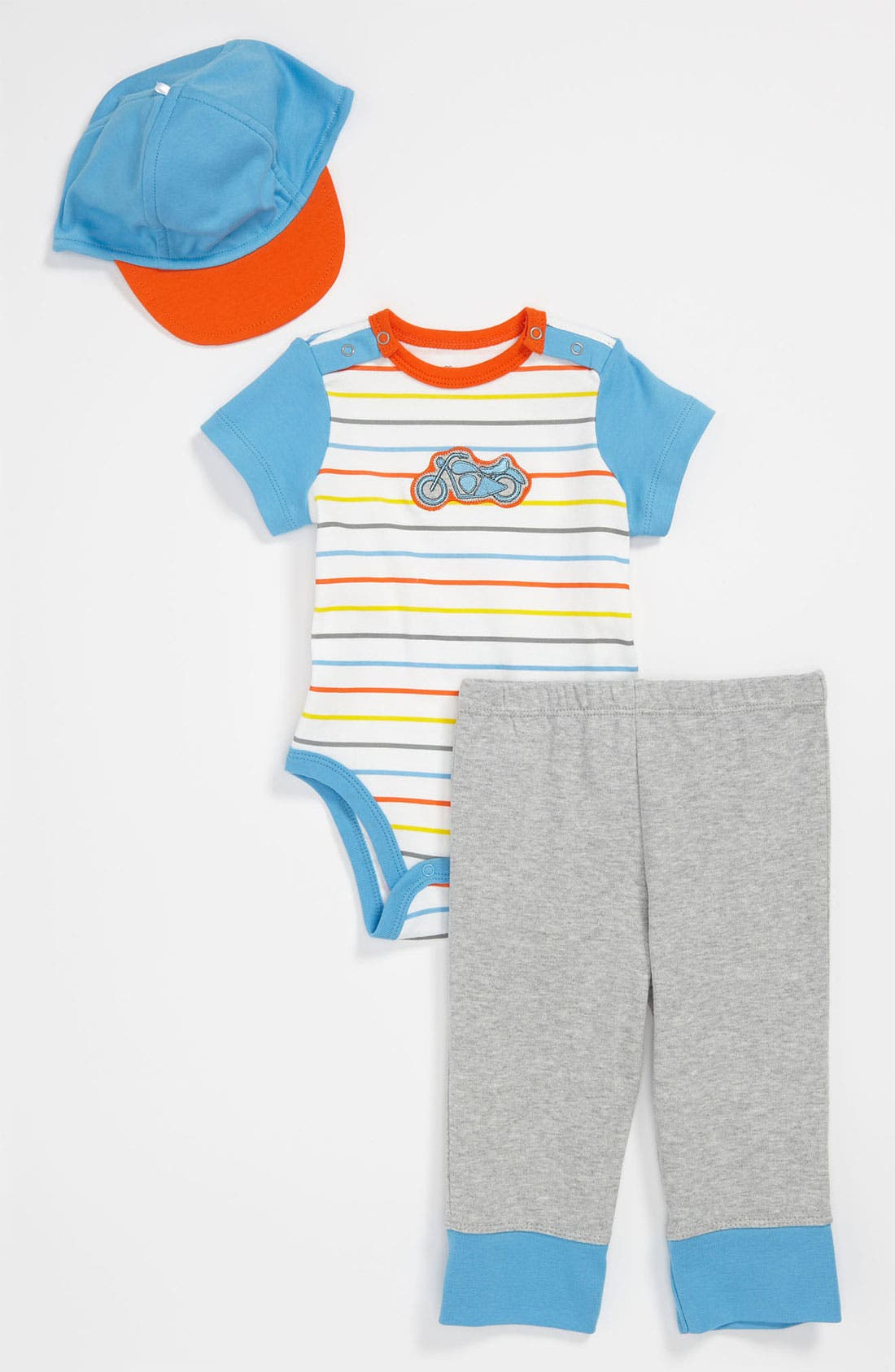Alternate Image 1 Selected - Offspring Bodysuit, Pants & Hat (Baby)
