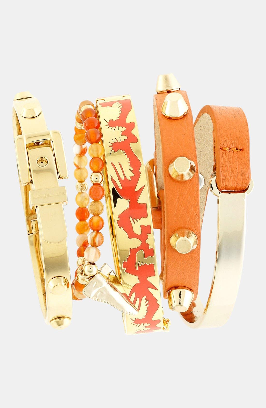 Alternate Image 2  - Cara Leather Wrap Bracelet