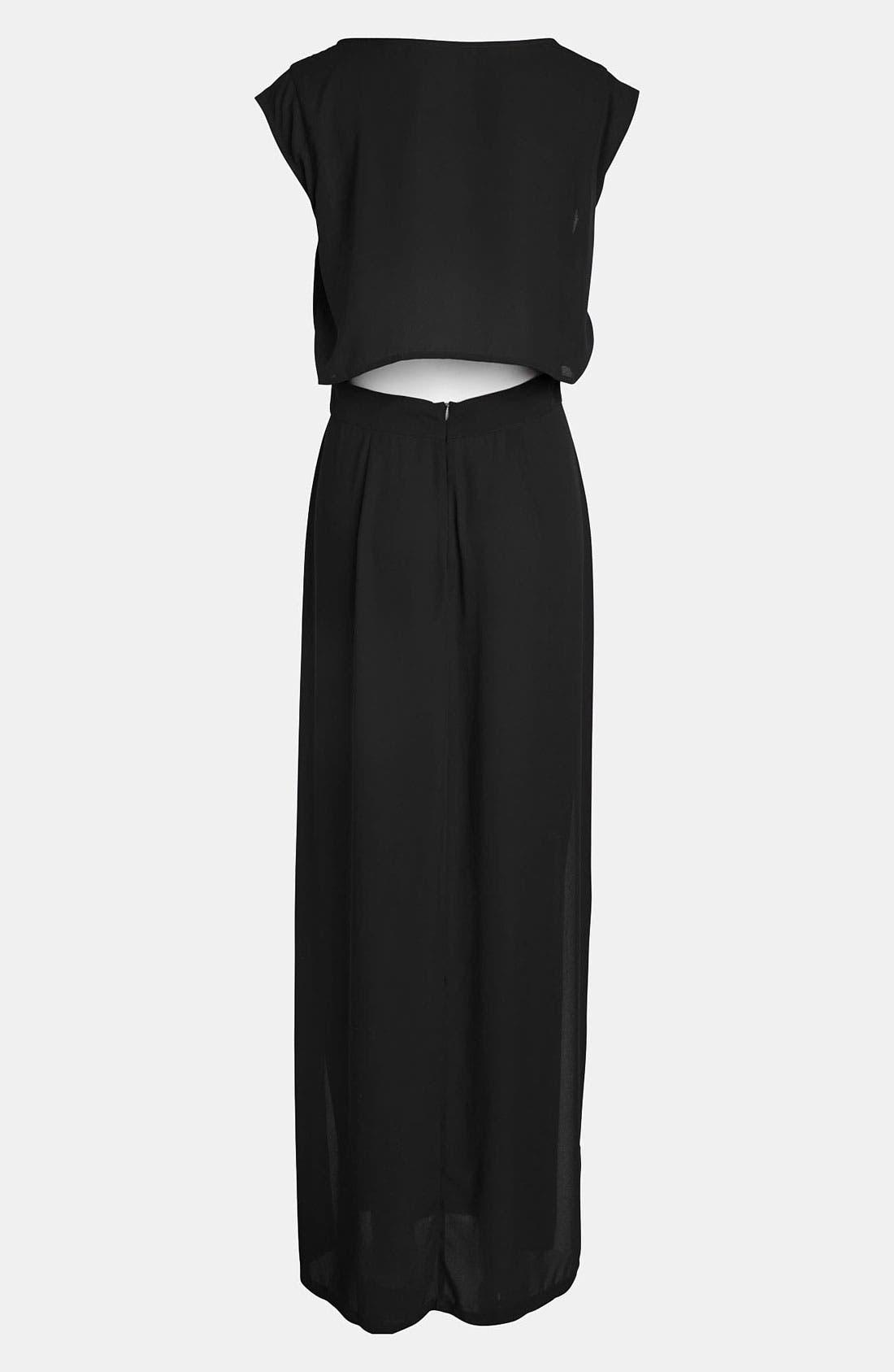 Alternate Image 2  - Leith 'Sport' Silky Maxi Dress