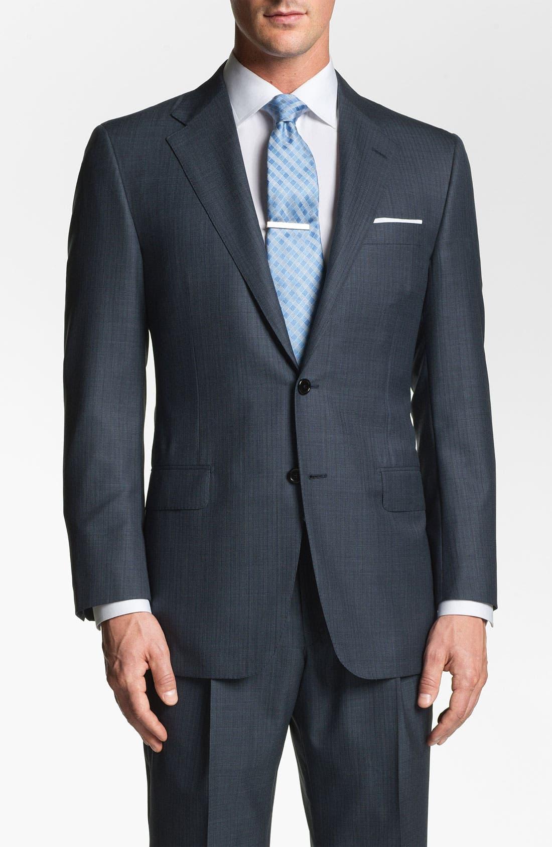 Alternate Image 4  - Hickey Freeman 'Addison' Stripe Suit