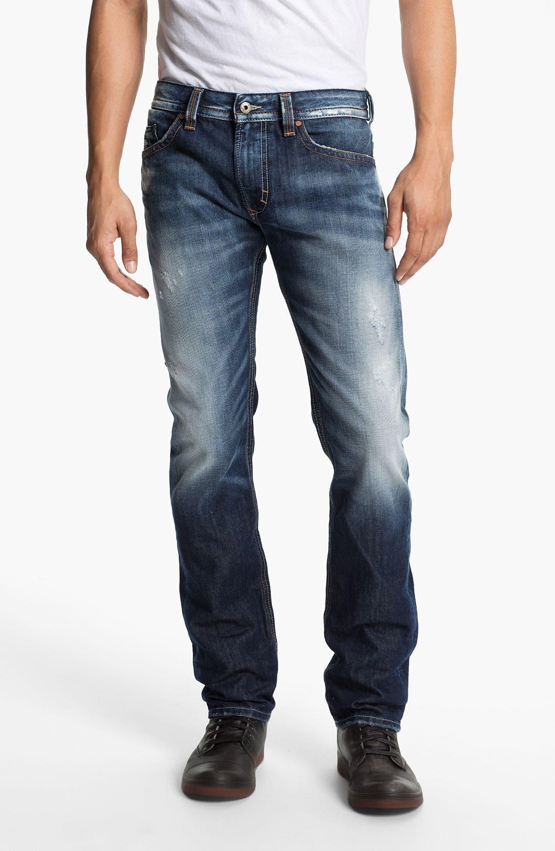 Alternate Image 2  - DIESEL® 'Thavar' Skinny Fit Jeans (0810L)