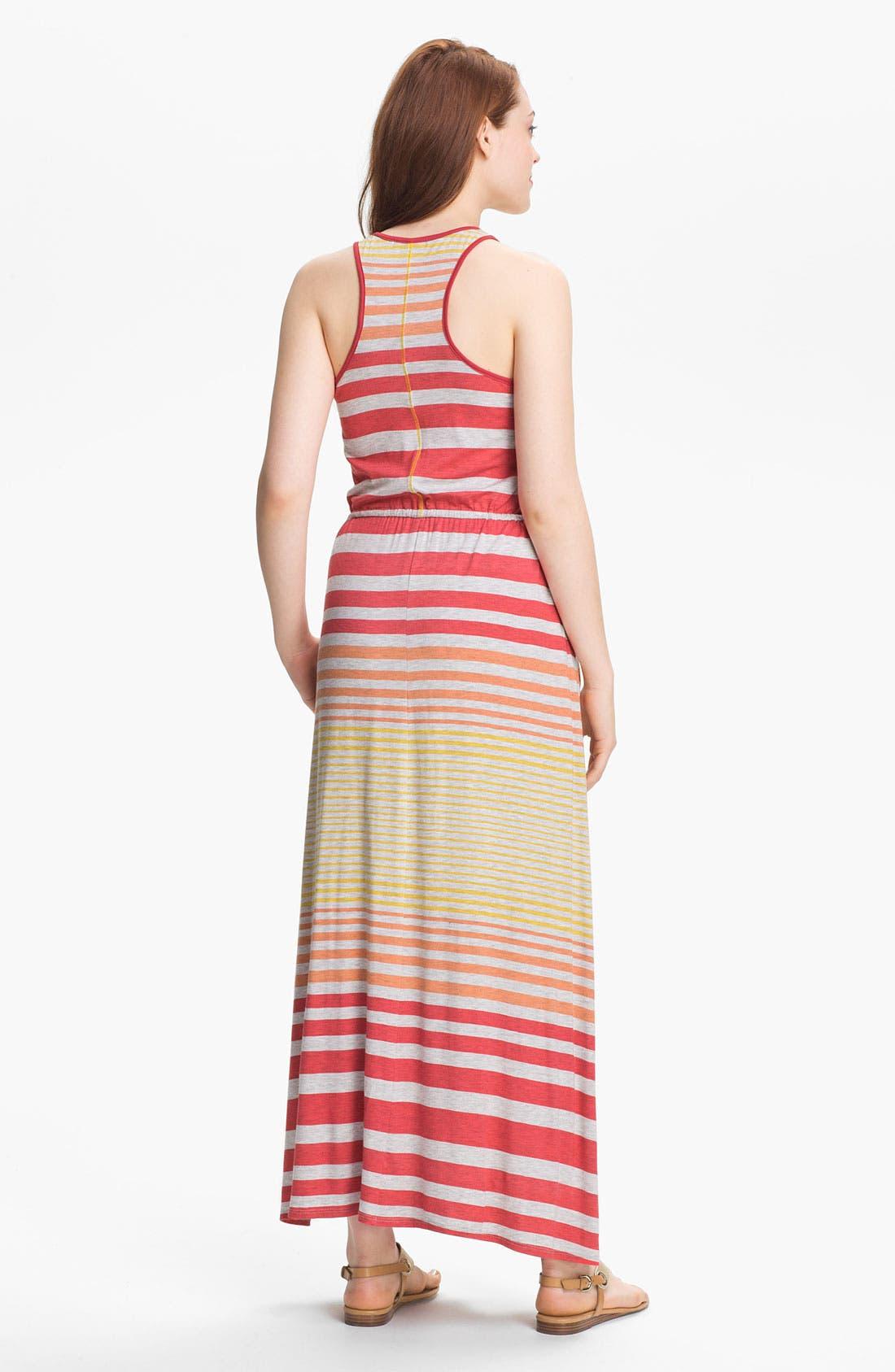 Alternate Image 2  - Max & Mia Drawstring Waist Maxi Dress