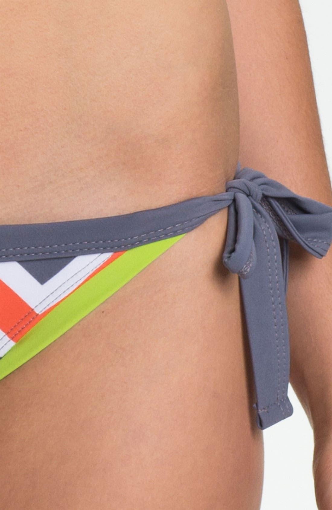 Alternate Image 6  - BCA Chevron Stripe Side Tie Bikini Bottoms