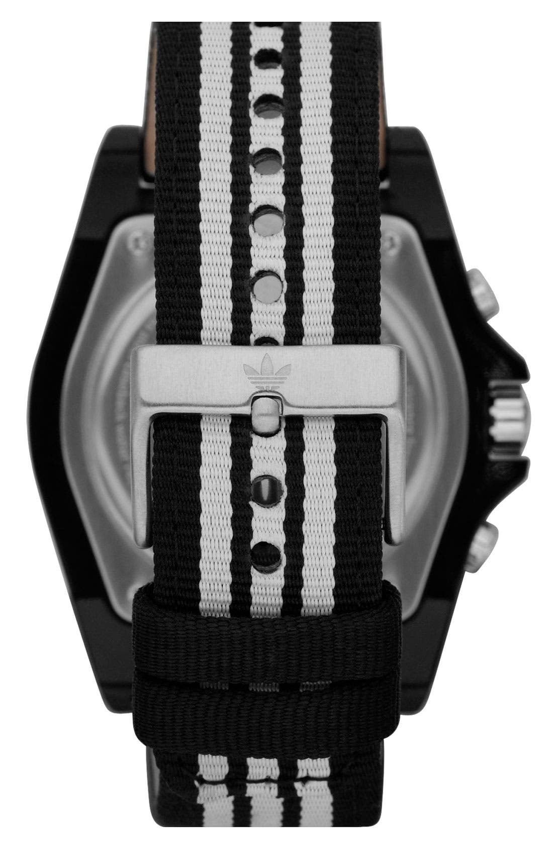 Alternate Image 3  - adidas Originals 'Stockholm' Nylon Strap Watch, 44mm
