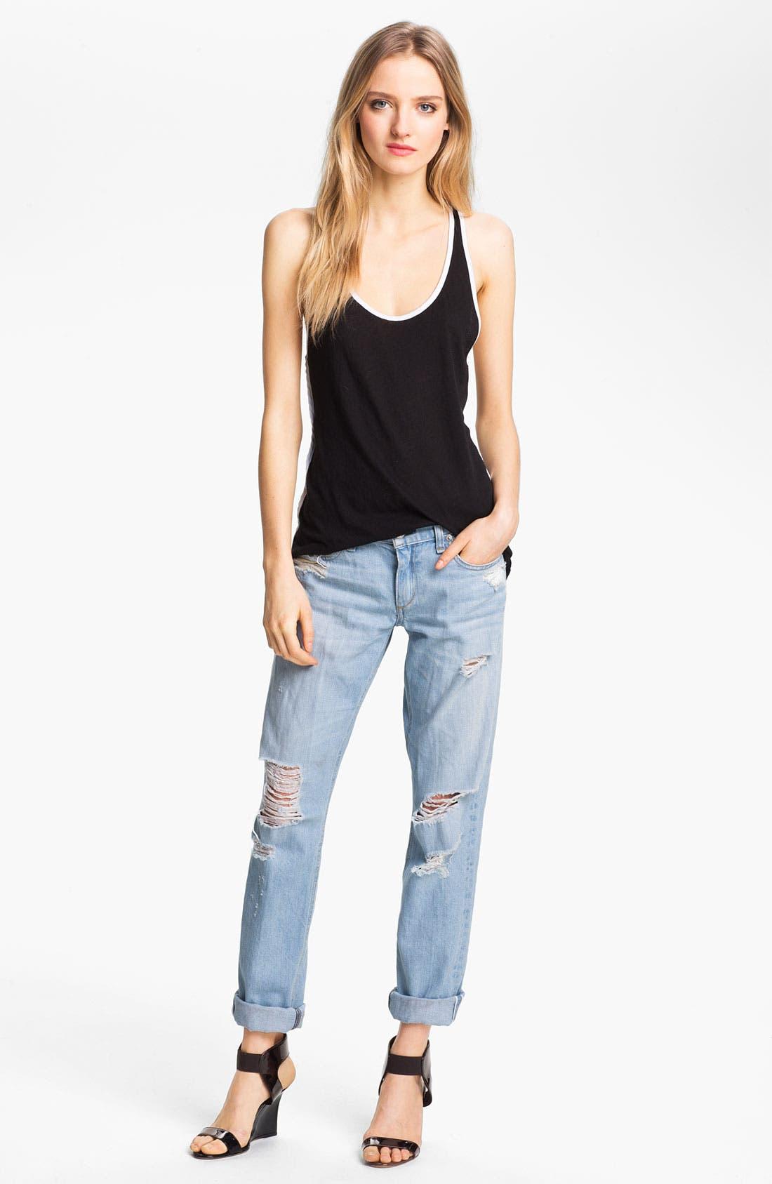 Alternate Image 6  - rag & bone/JEAN 'The Boyfriend' Selvedge Denim Jeans