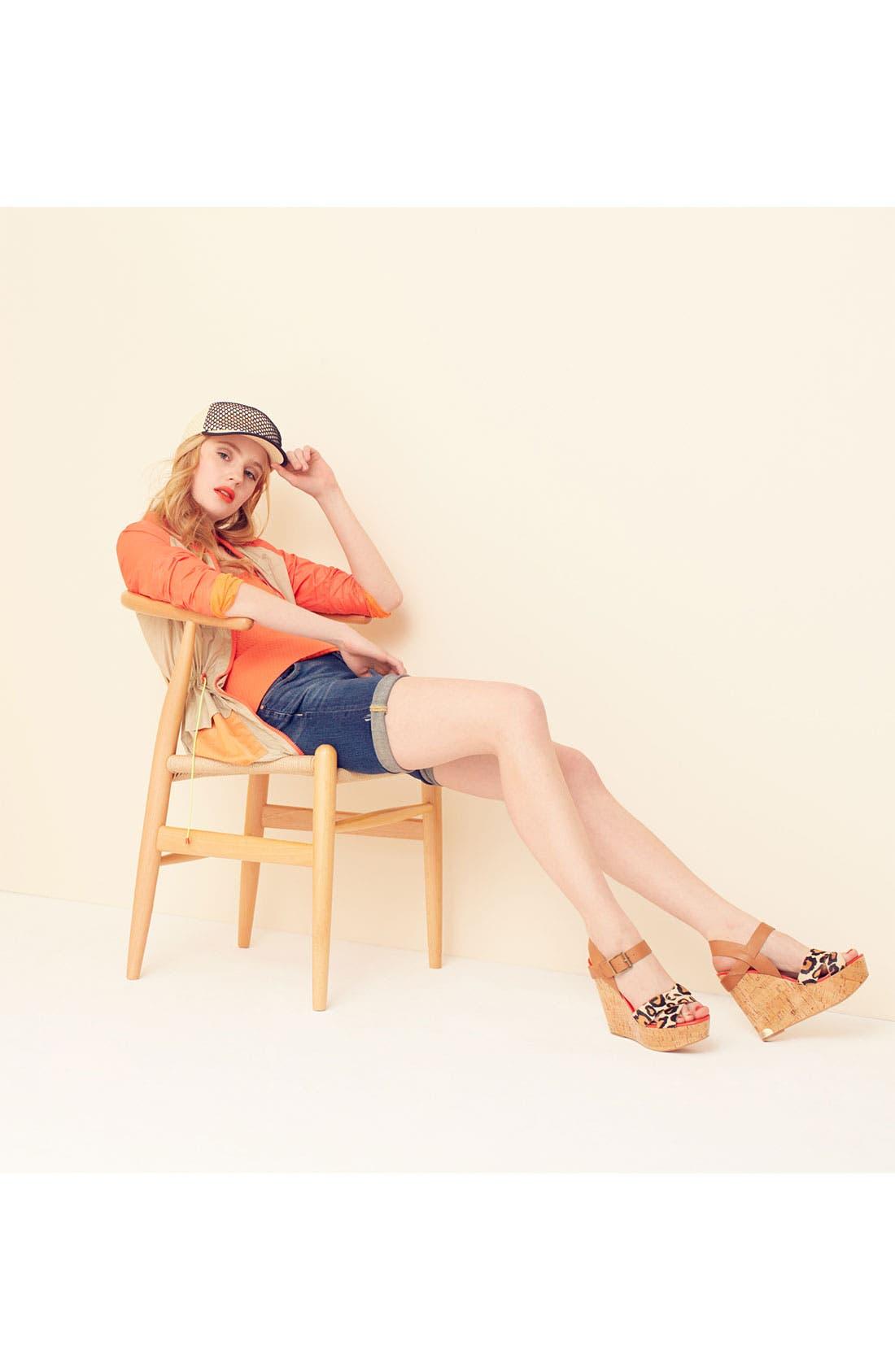 Main Image - Sam Edelman Colorblock Utility Jacket & Wedge Sandal