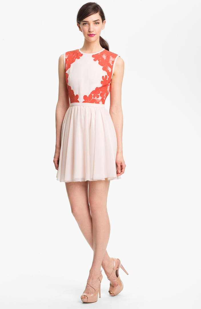 Ted Baker London сумка : Ted baker london mixed media fit flare dress nordstrom