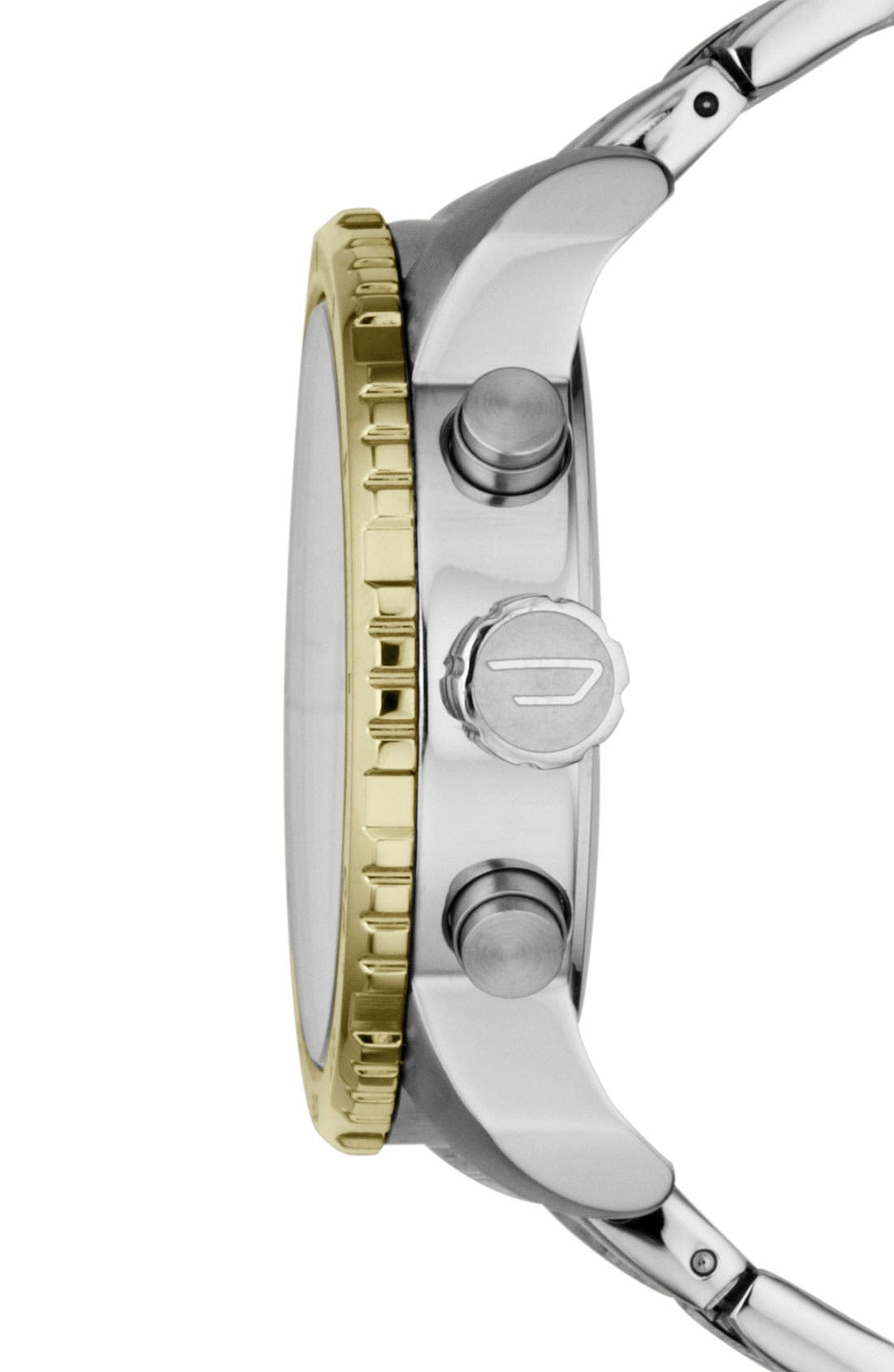 Alternate Image 2  - DIESEL® 'Double Down' Bracelet Watch, 46mm
