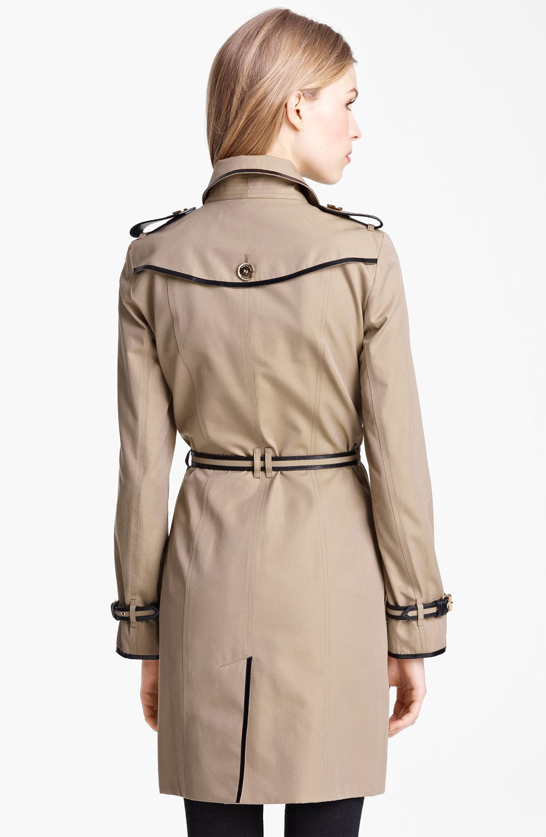 Alternate Image 2  - Burberry London Belted Gabardine Trench Coat
