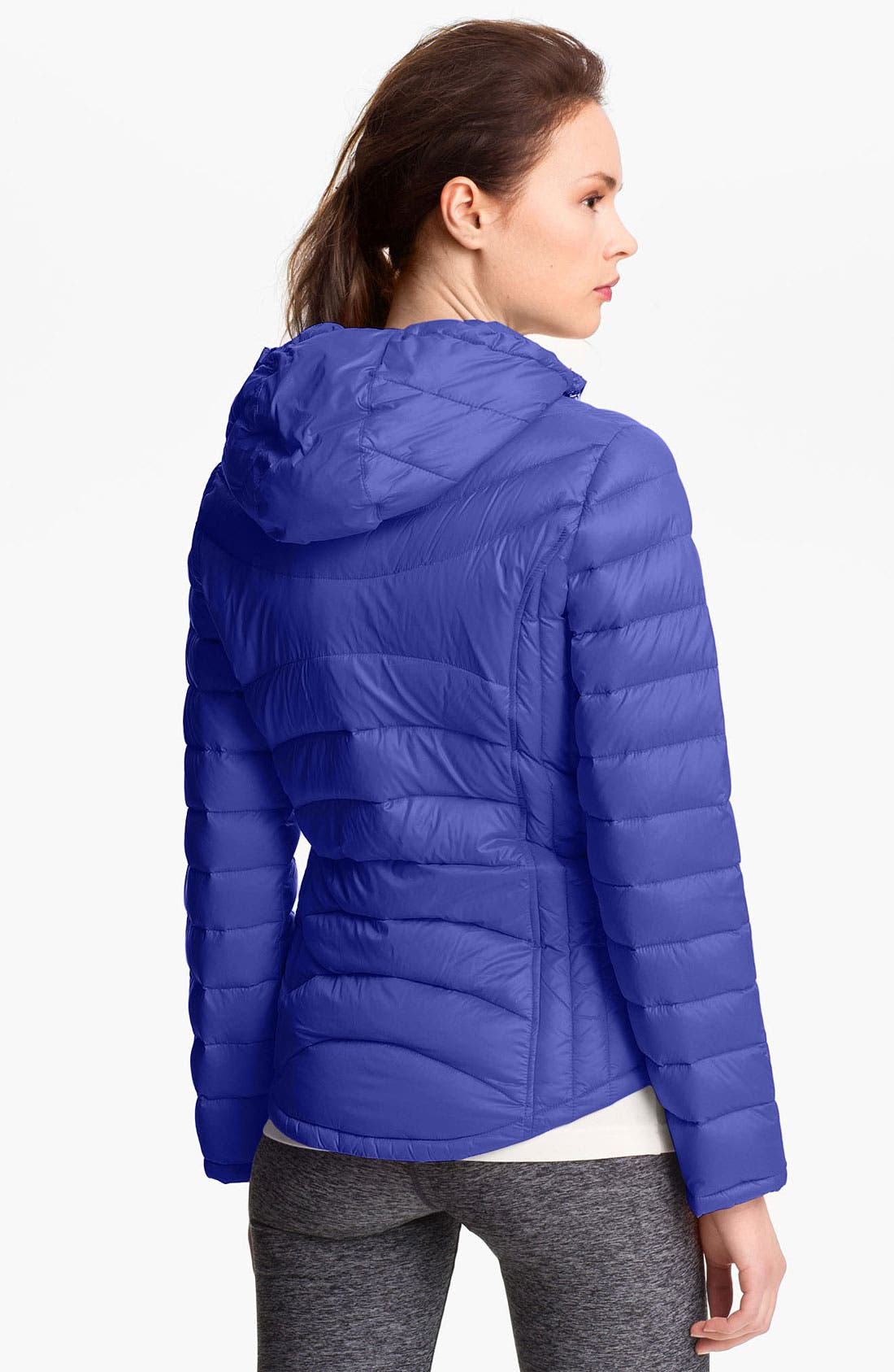 Alternate Image 2  - Calvin Klein Hooded Packable Down Jacket