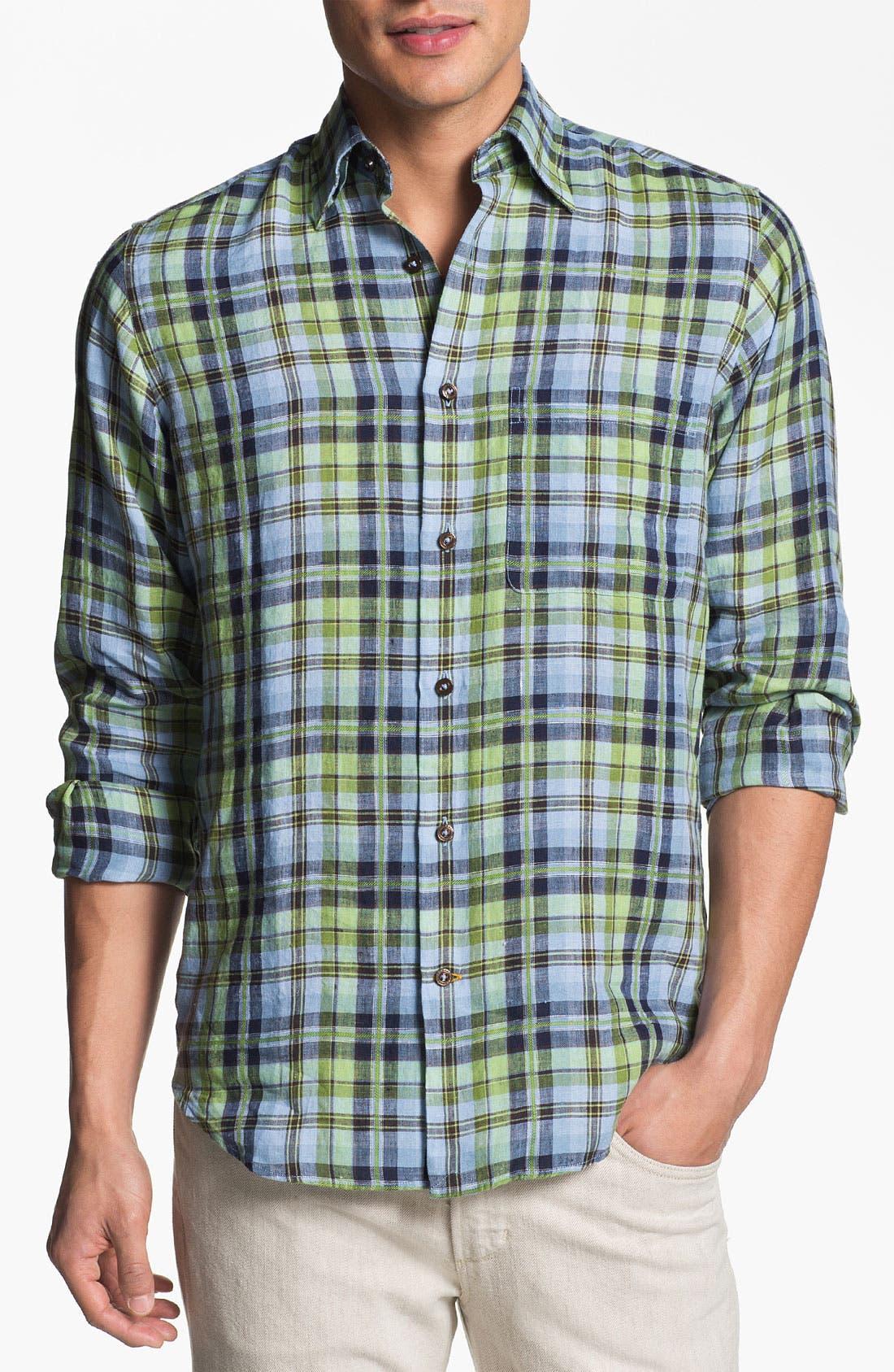 Alternate Image 1 Selected - Robert Talbott Regular Fit Linen Sport Shirt