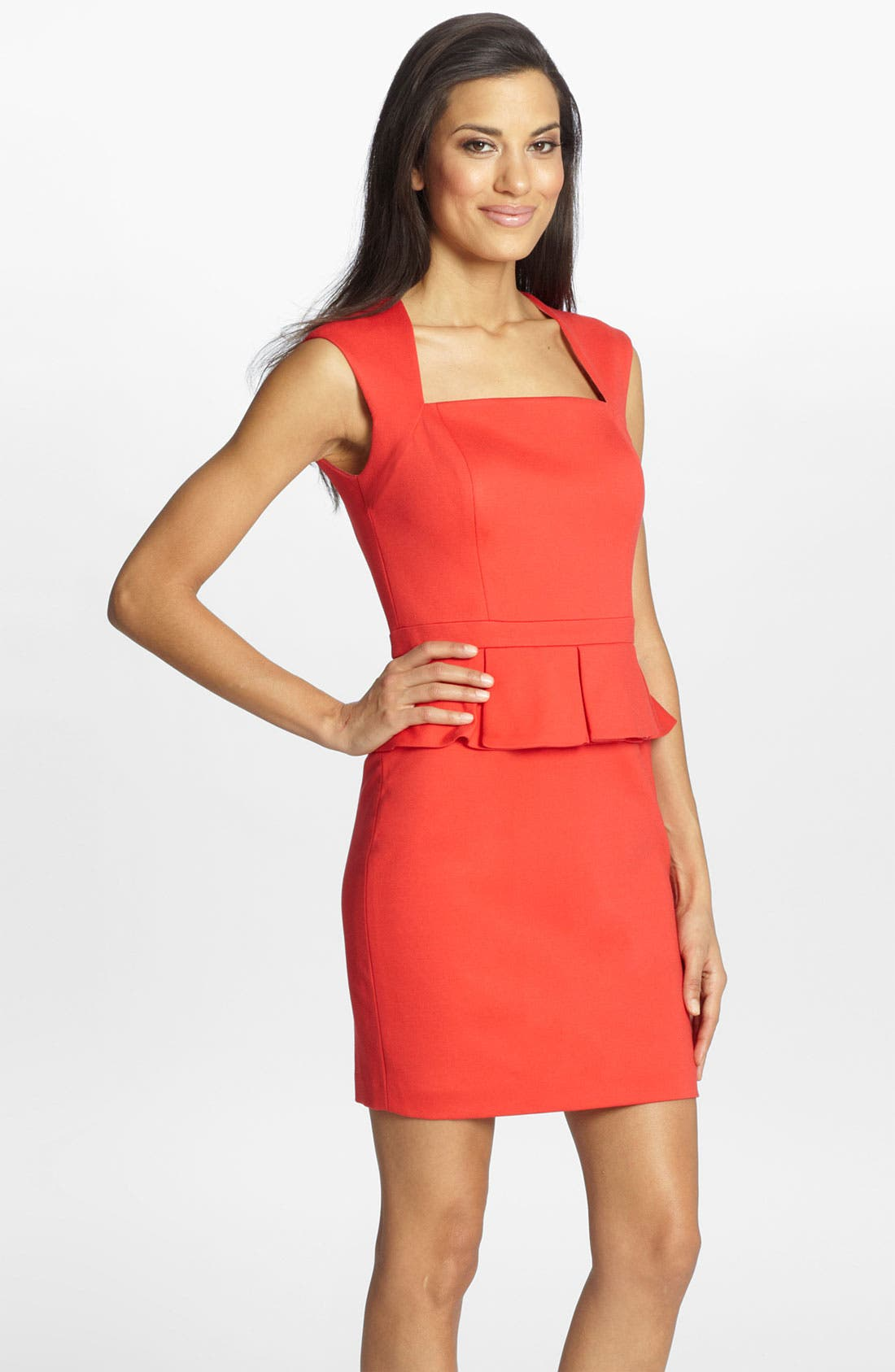 Alternate Image 1 Selected - Cynthia Steffe 'Mia' Ponte Knit Peplum Dress