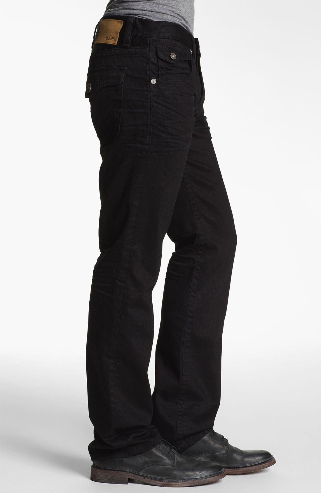 Alternate Image 3  - MEK Denim 'Luther' Straight Leg Jeans (Black Bart)