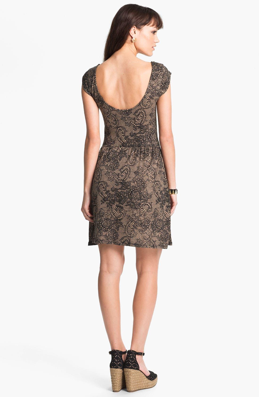 Alternate Image 2  - Mimi Chica Paisley Print Dress (Juniors)