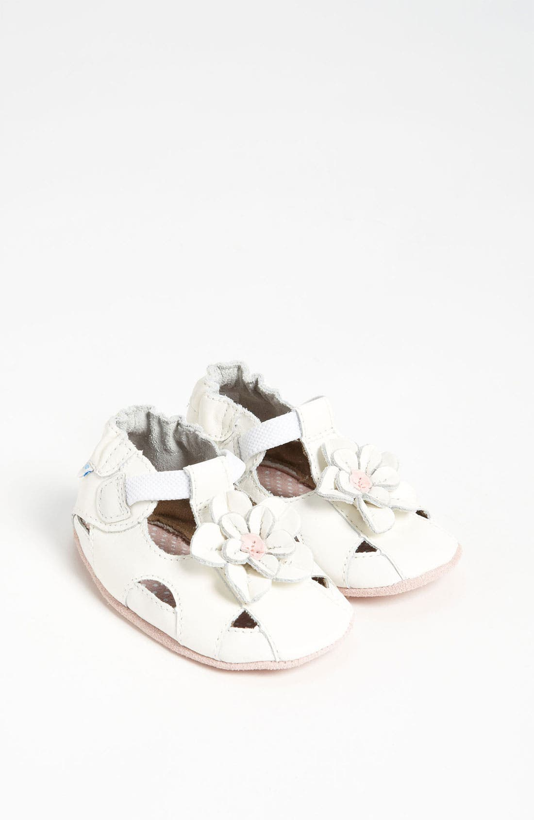 Alternate Image 1 Selected - Robeez® 'Pretty Pansy' Sandal (Baby & Walker)