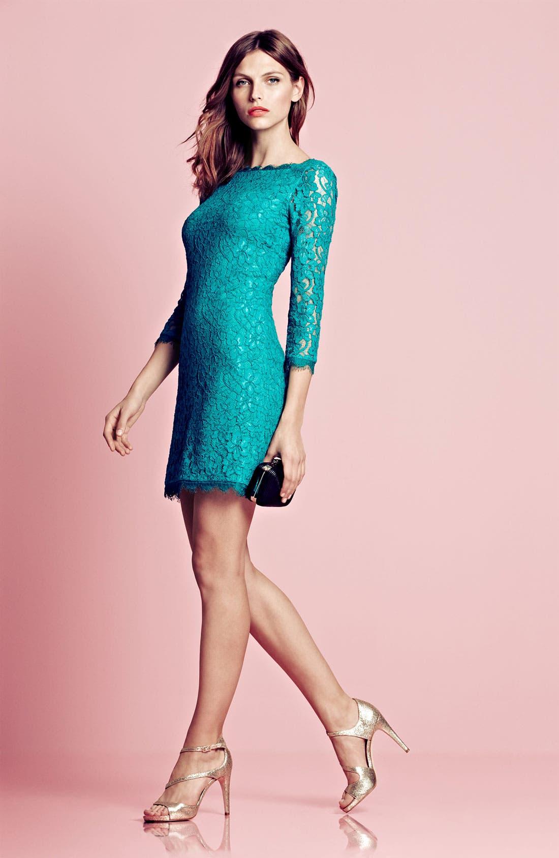 Alternate Image 4  - Diane von Furstenberg 'Zarita' Lace Sheath Dress