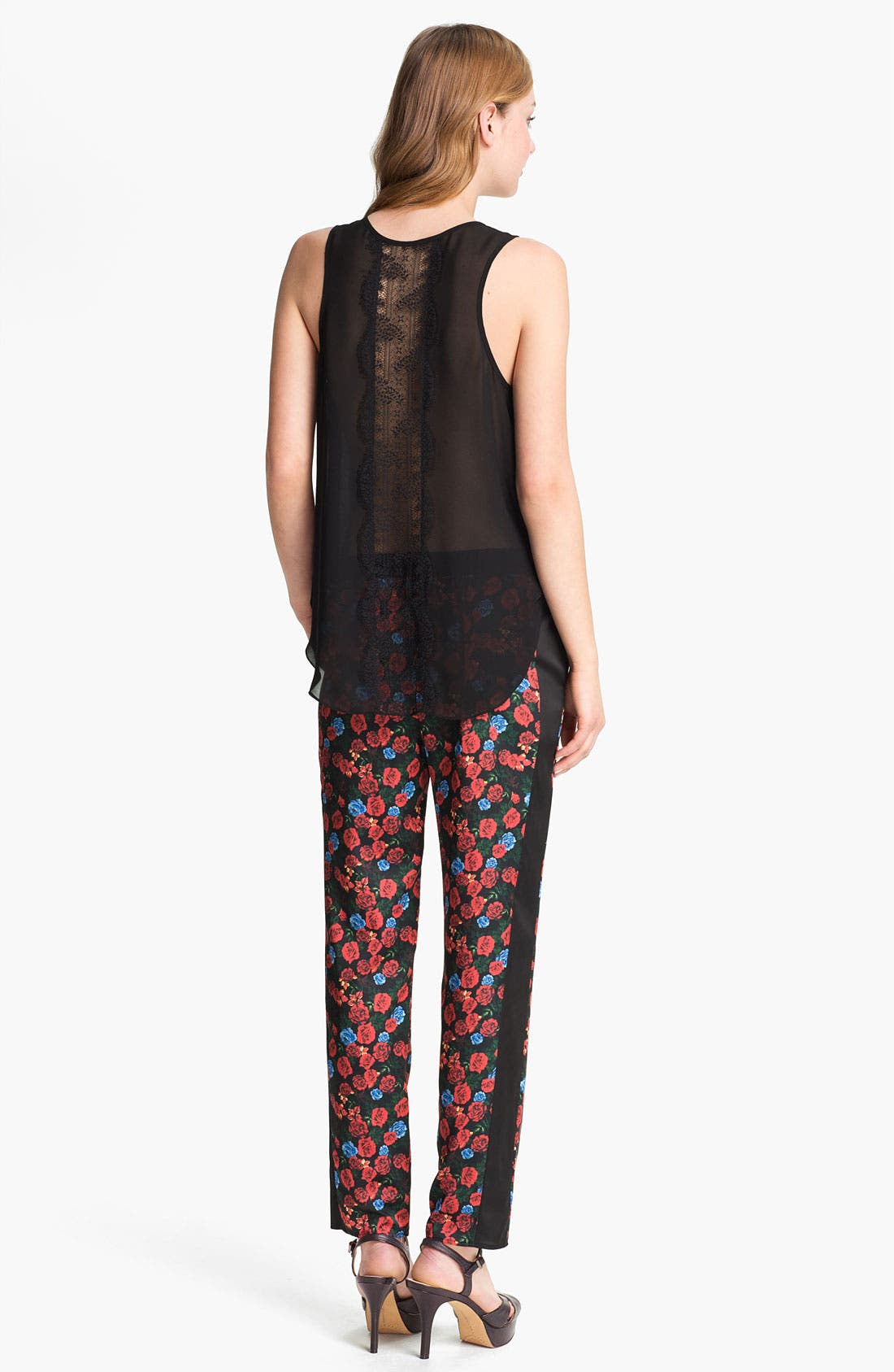 Alternate Image 4  - Vince Camuto Back Lace Panel Tank