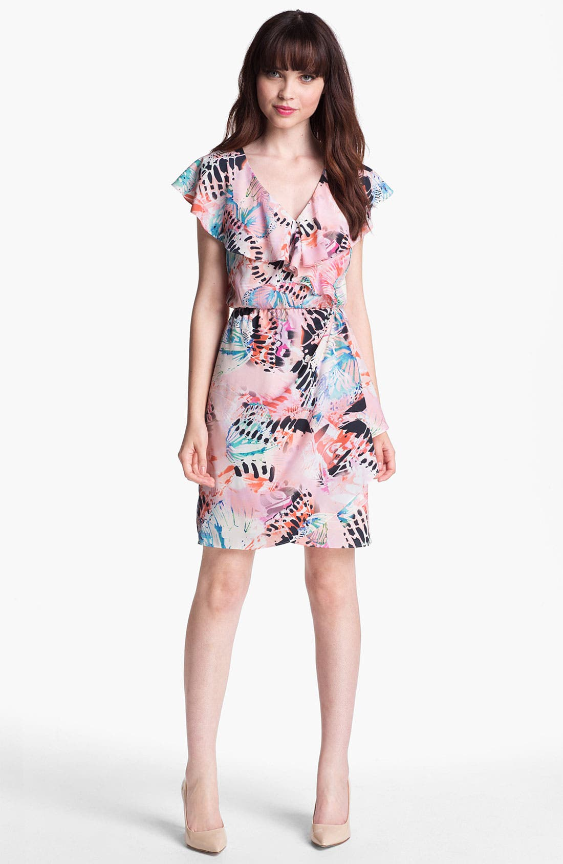 Main Image - Presley Skye Ruffled Faux Wrap Dress