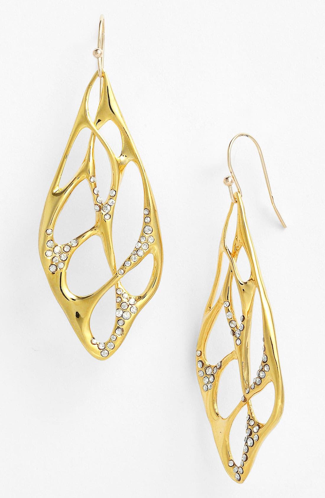 Alternate Image 1 Selected - Alexis Bittar 'Miss Havisham - Liquid Gold' Open Drop Earrings