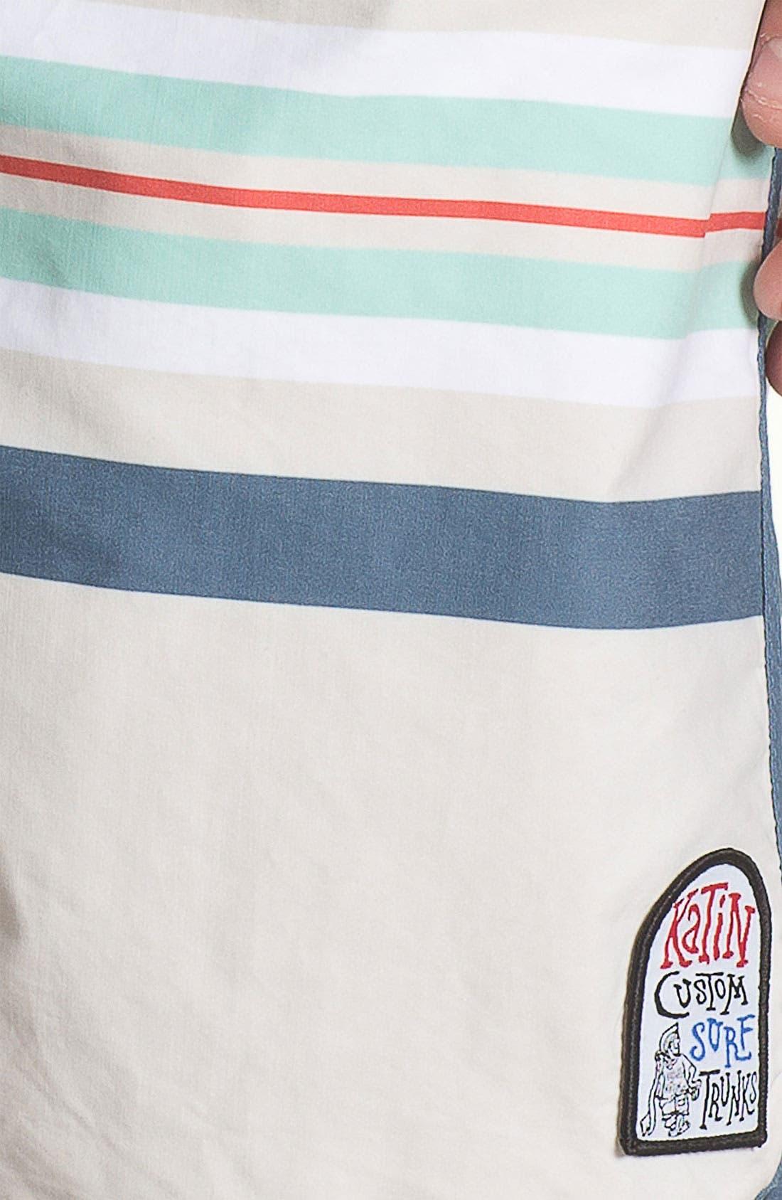 Alternate Image 3  - Katin 'South Pacific' Stripe Print Board Shorts