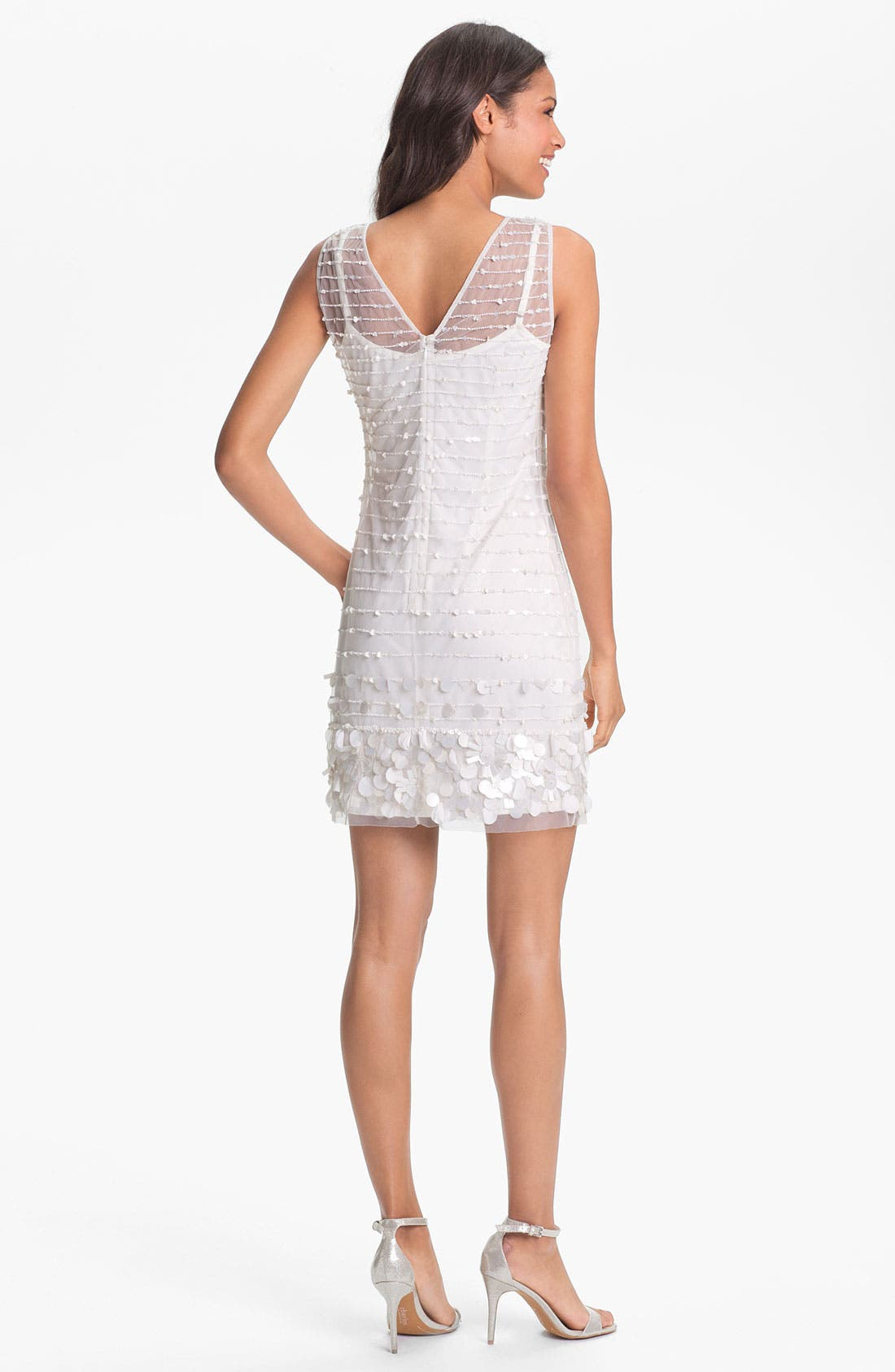 Alternate Image 2  - Aidan Mattox Embellished Tulle Dress