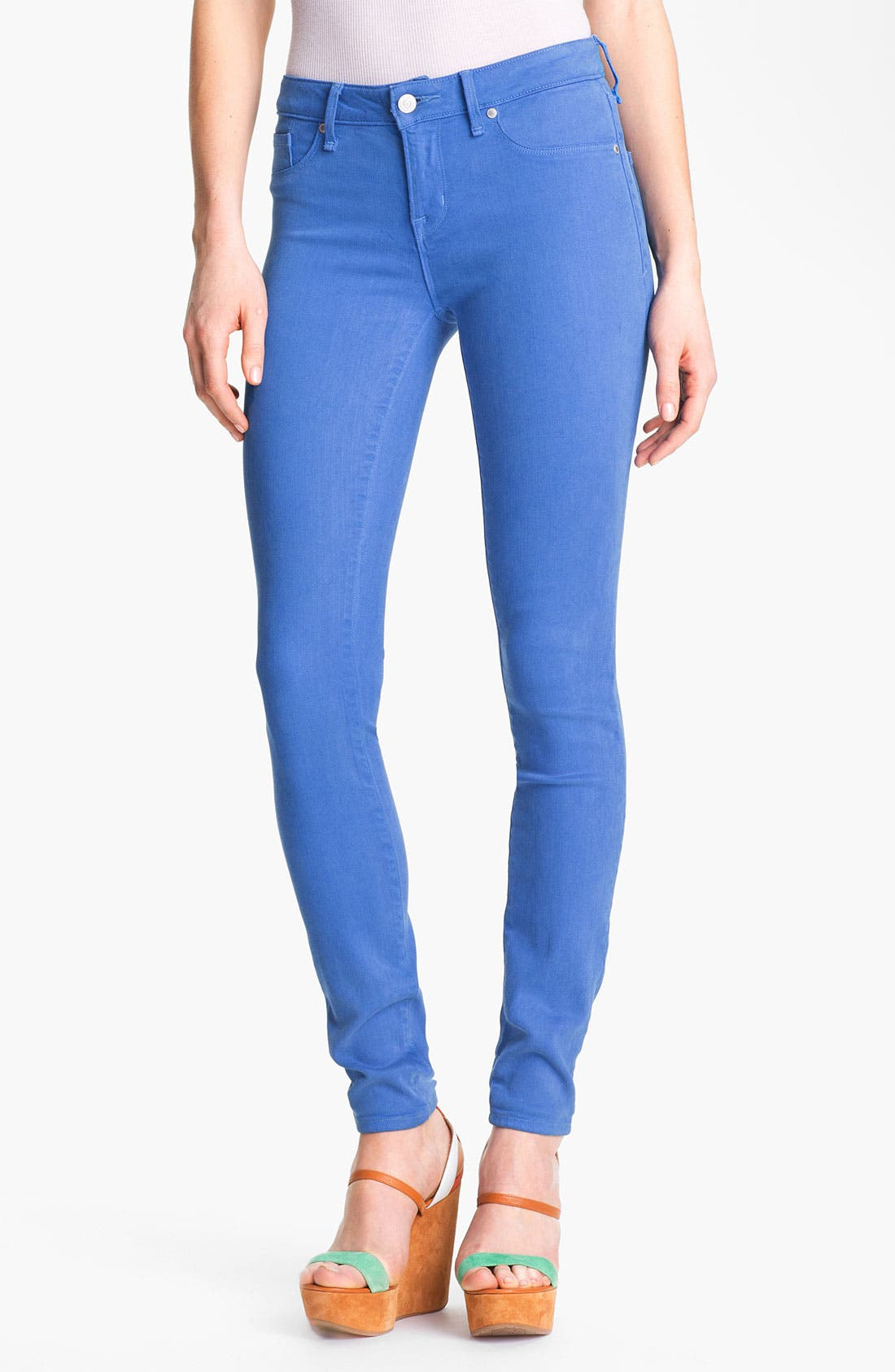 Alternate Image 1 Selected - MARC BY MARC JACOBS 'Stick' Colored Skinny Jeans (Electric Blue Lemonade)
