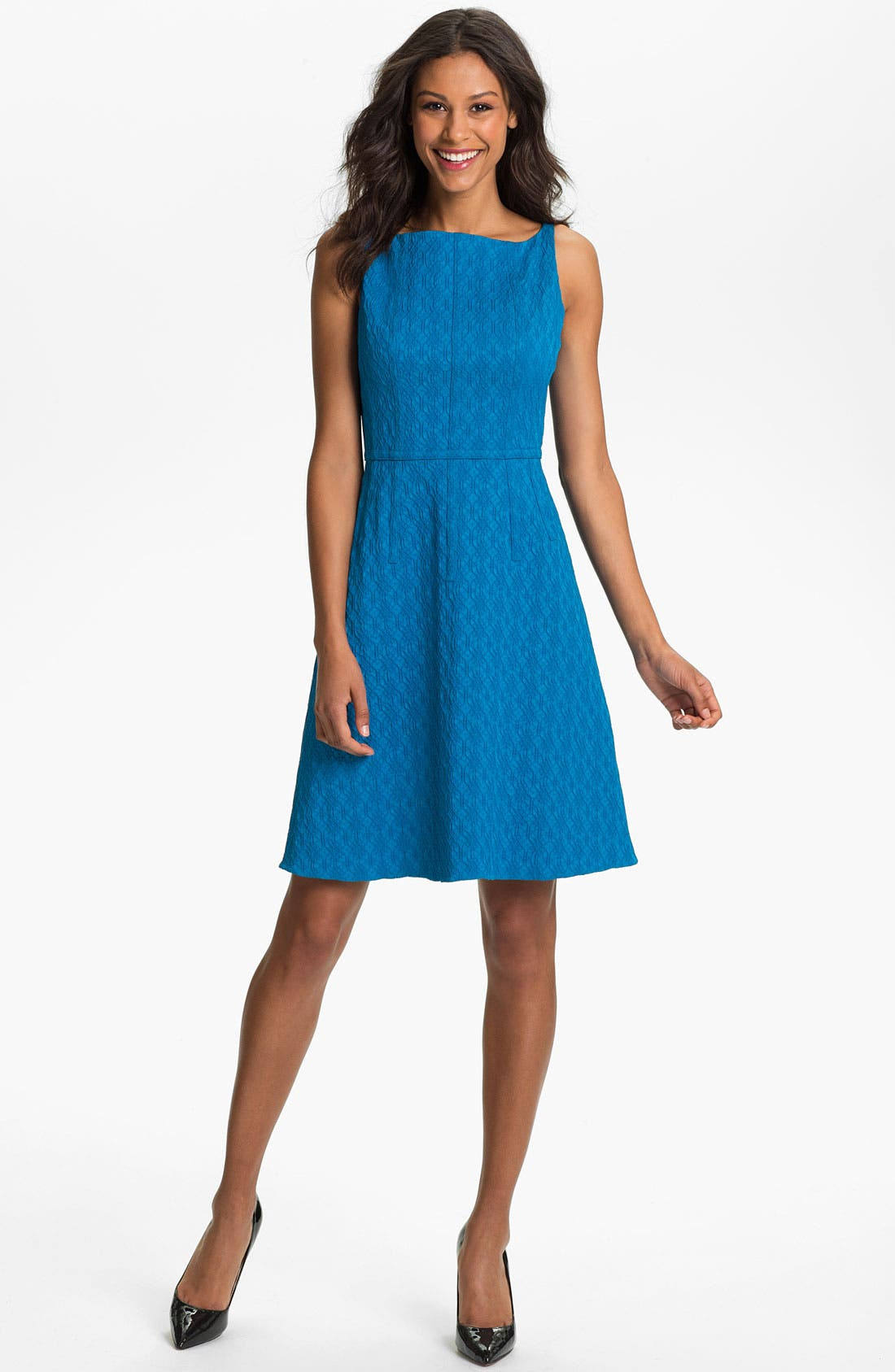 Main Image - Adrianna Papell Jacquard Fit & Flare Dress