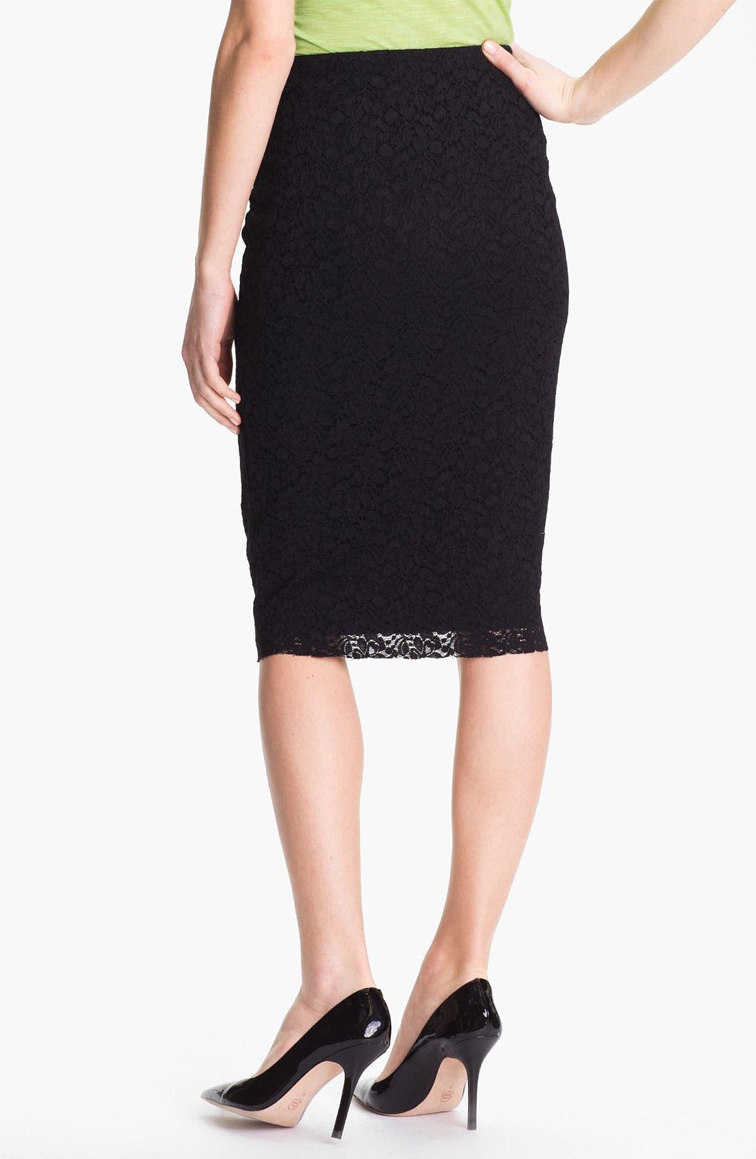 Alternate Image 2  - Vince Camuto Lace Midi Skirt
