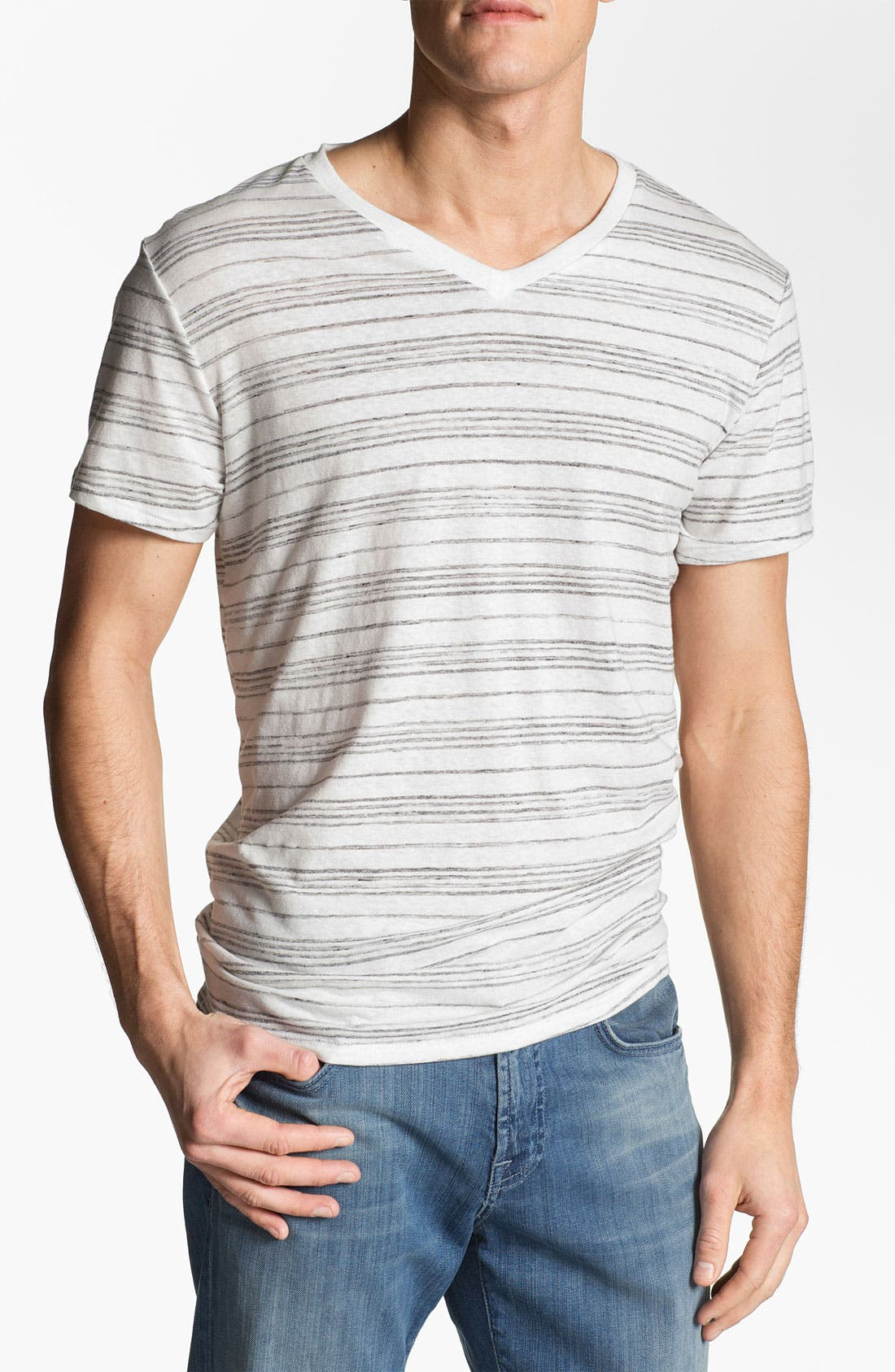 Alternate Image 1 Selected - Threads for Thought 'Crazy Stripe' V-Neck T-Shirt