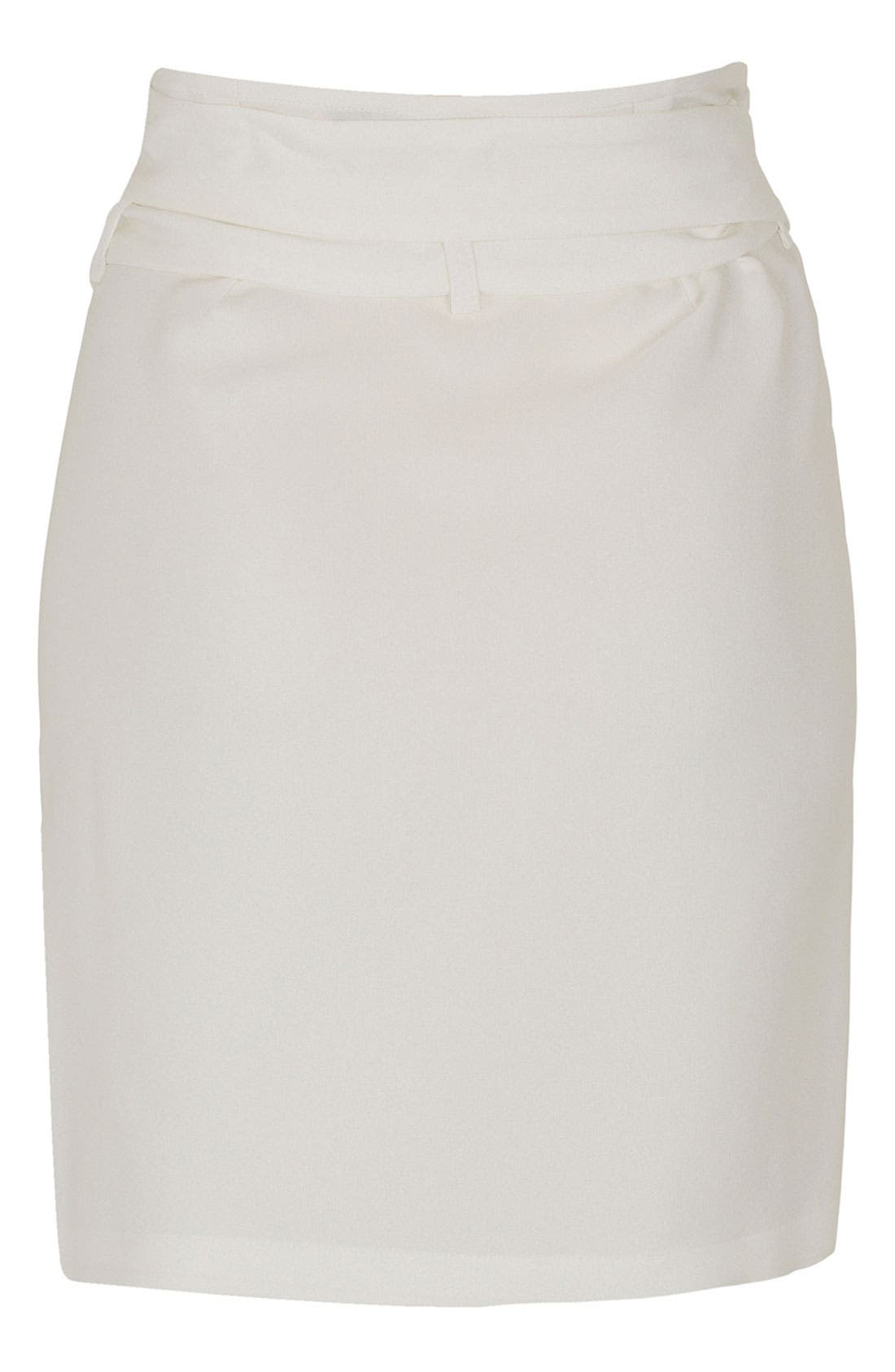 Alternate Image 3  - Topshop Unique Silk Asymmetrical Wrap Skirt