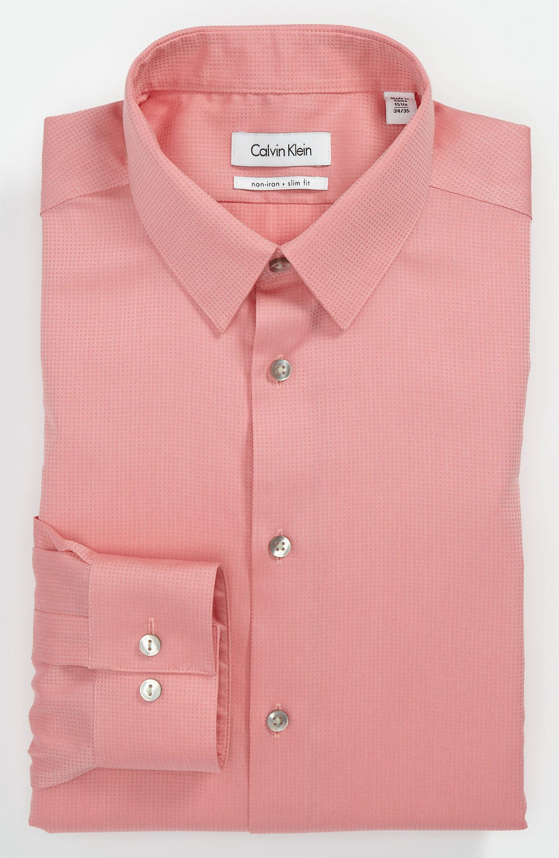 Main Image - Calvin Klein 'Miami Check' Slim Fit Non-Iron Dress Shirt