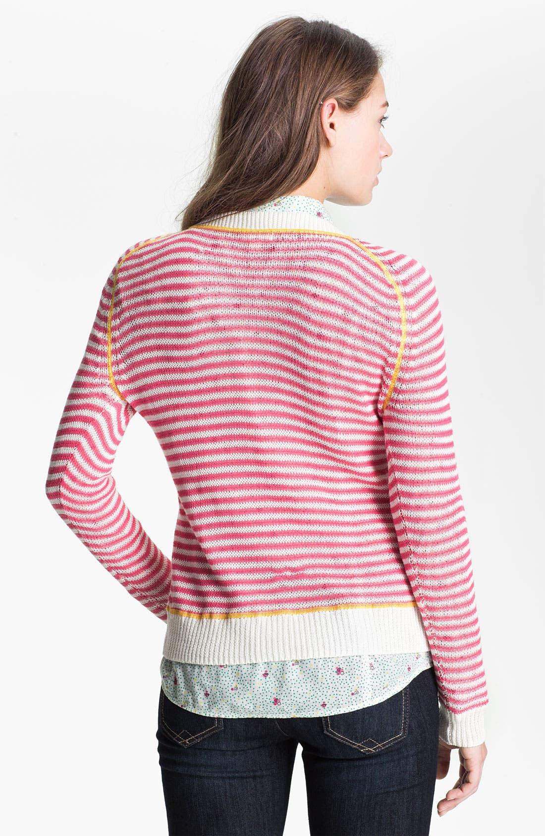 Alternate Image 2  - Caslon Contrast Stitch Crewneck Sweater (Petite)