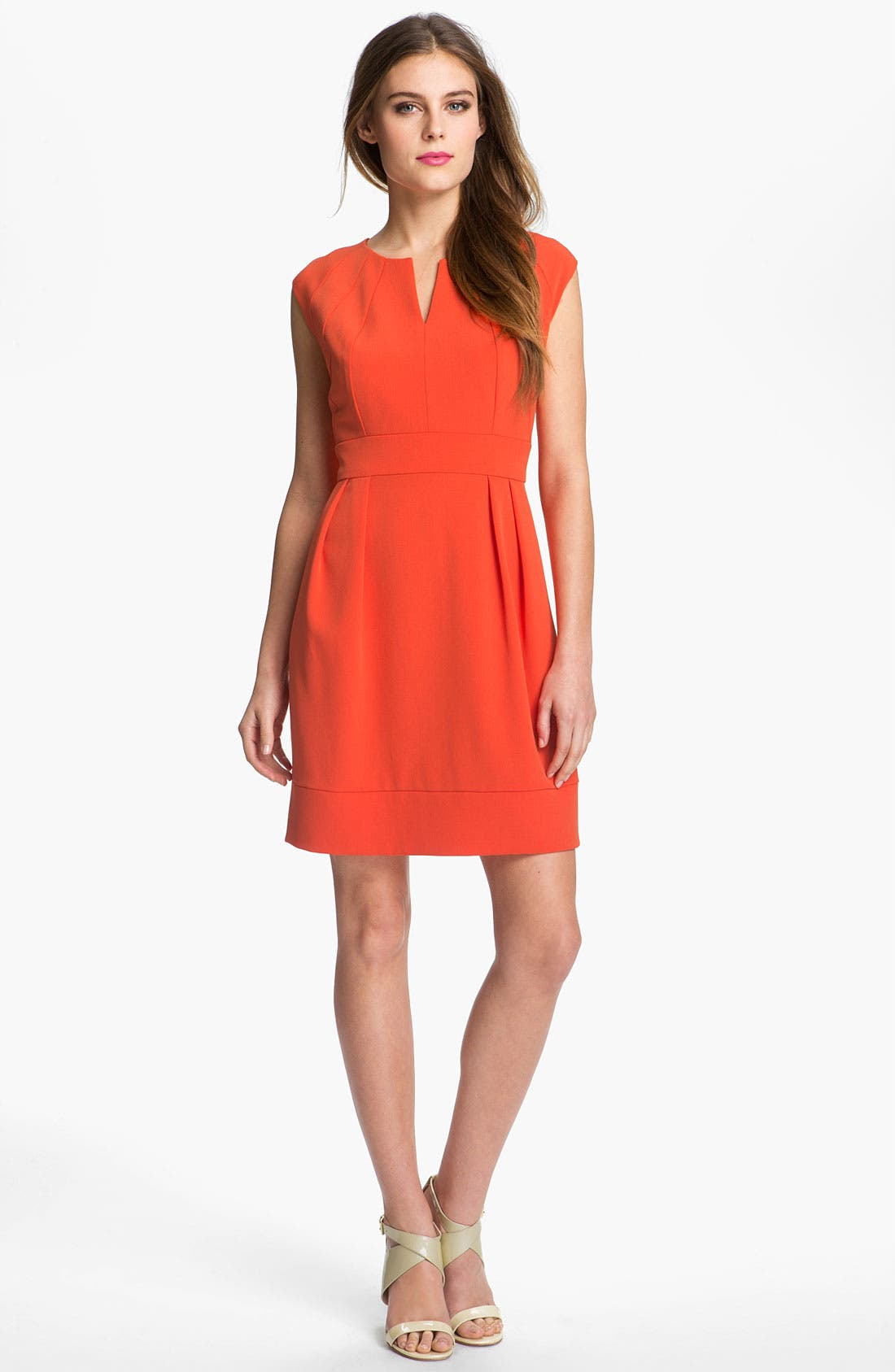 Alternate Image 1 Selected - Donna Ricco Crepe Dress