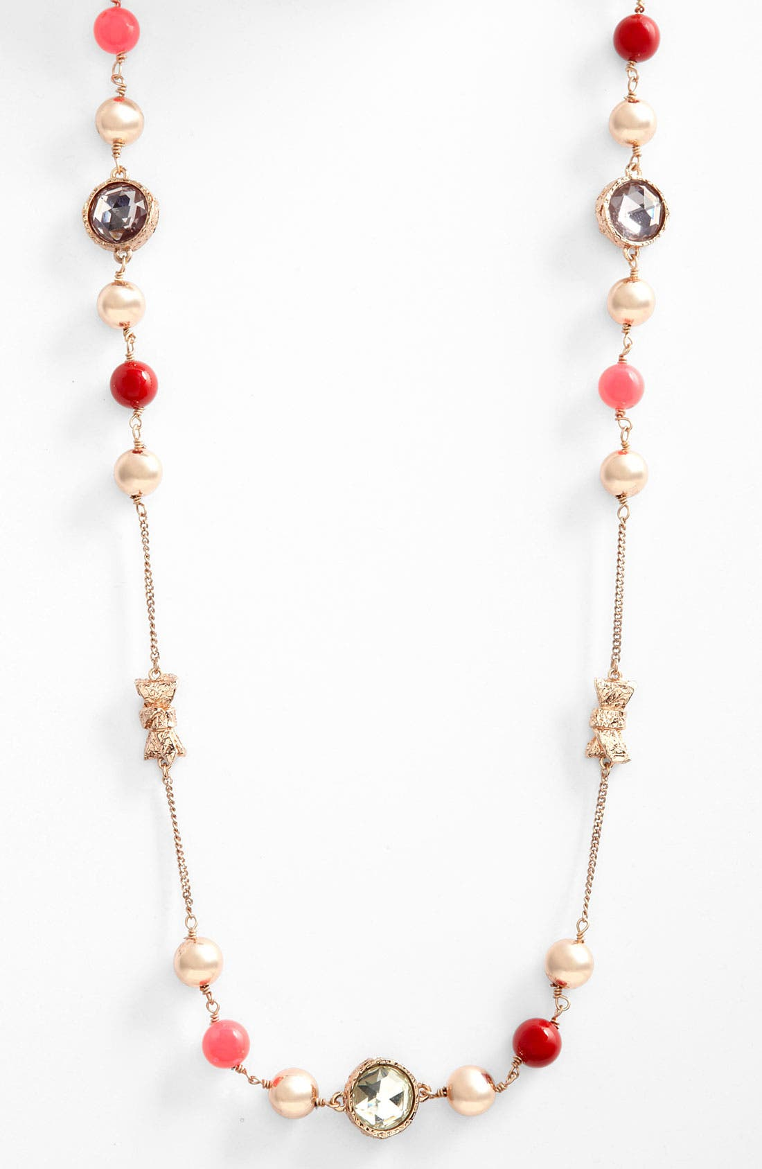 Alternate Image 1 Selected - MARC BY MARC JACOBS 'Exploded Bow' Long Station Necklace