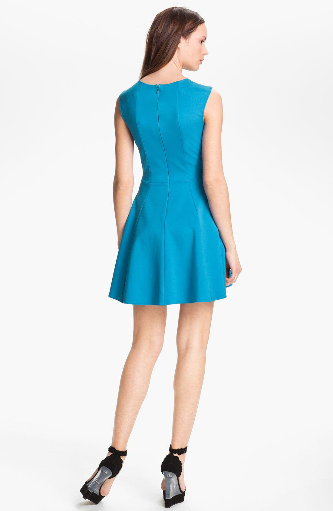 Alternate Image 2  - Halston Heritage Crisscross Neck Ponte Knit Dress