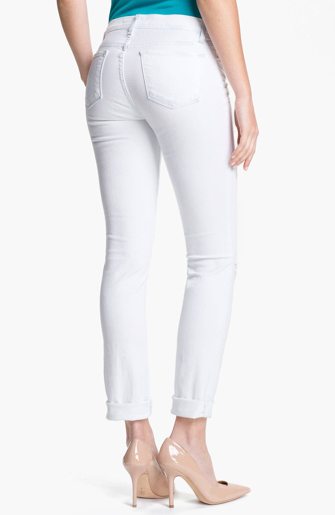 Alternate Image 2  - J Brand '8112' Mid-Rise Stove Pipe Jeans (Runaway)