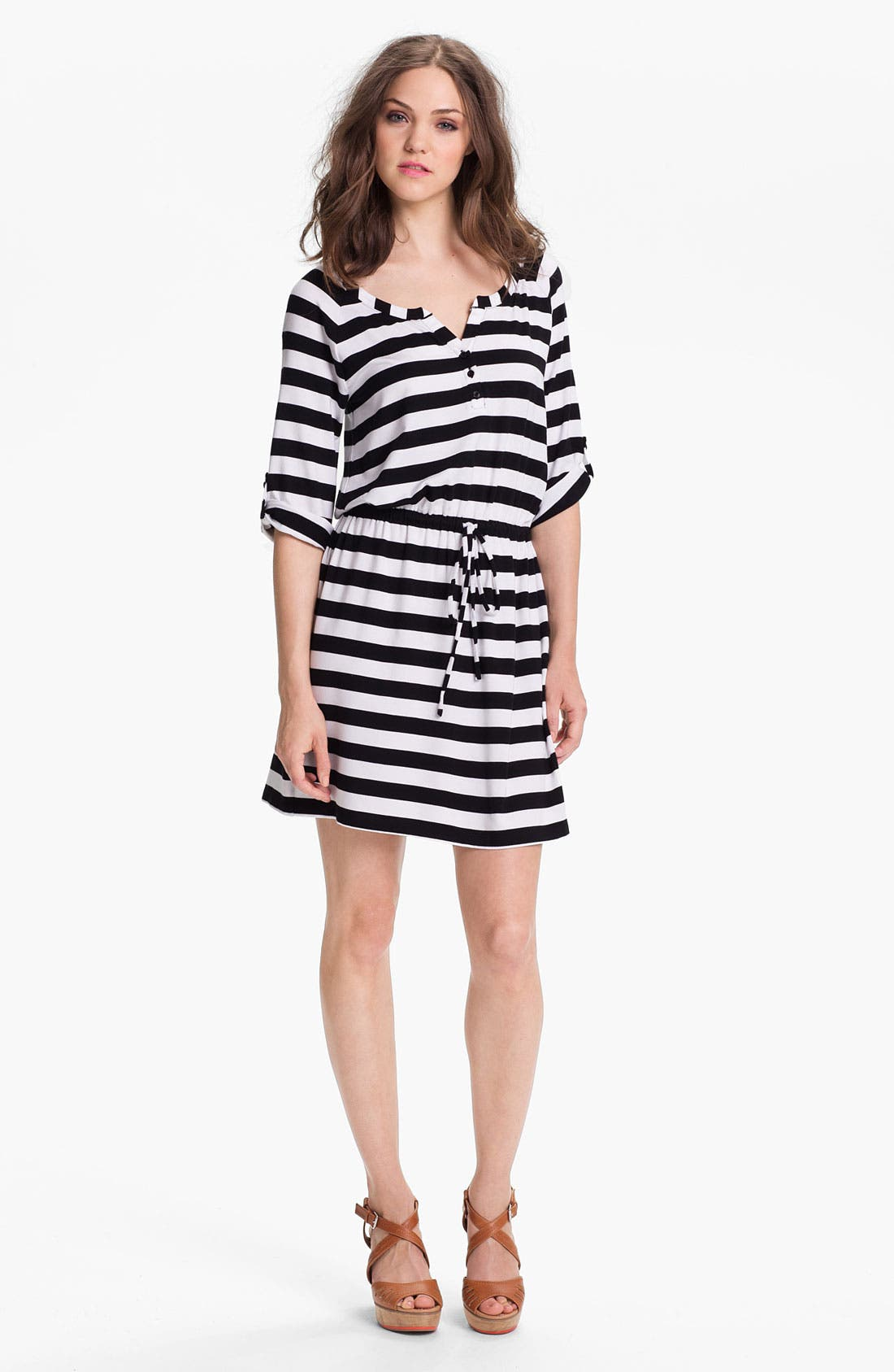 Main Image - Caslon® Knit Henley Dress