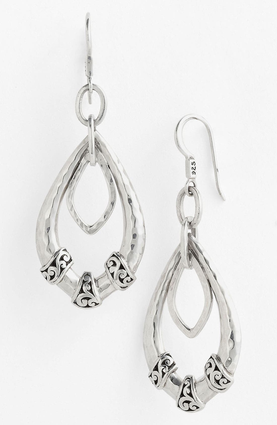 Alternate Image 1 Selected - Lois Hill 'Classy Cutout Waves' Hammered Drop Earrings