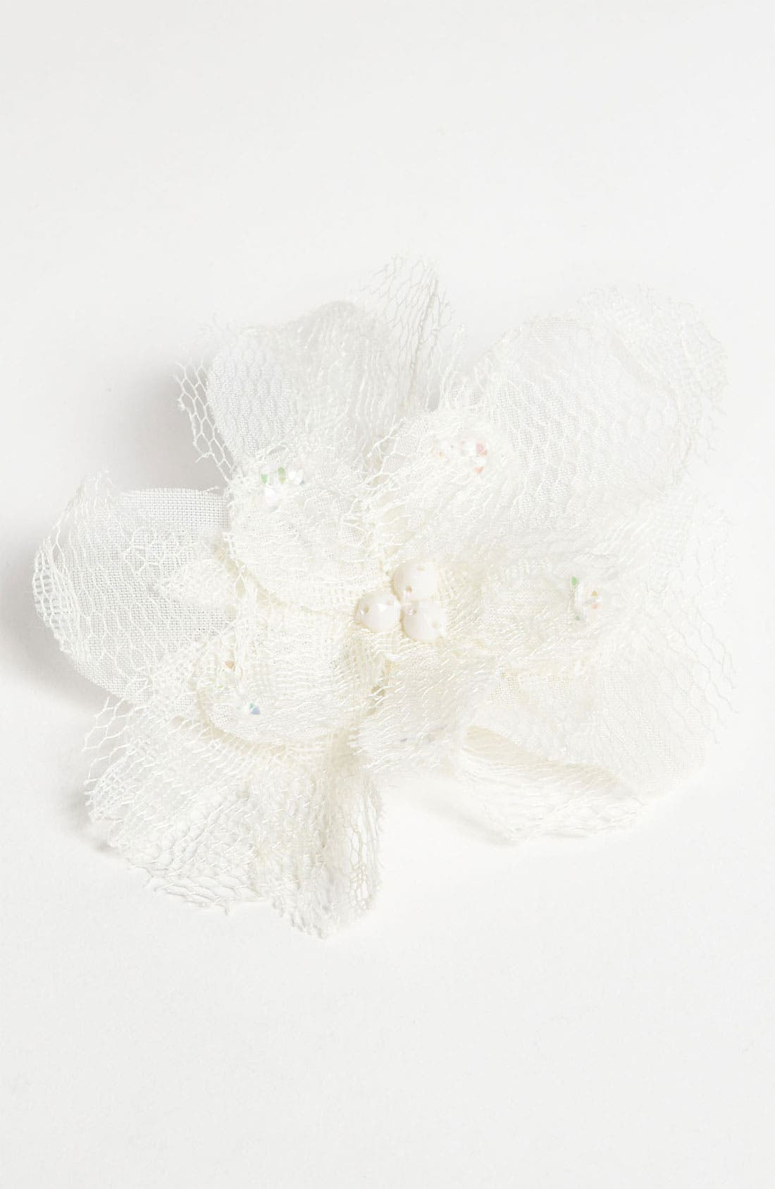 Alternate Image 1 Selected - PLH Bows & Laces Flower Hair Clip (Baby Girls & Toddler Girls)