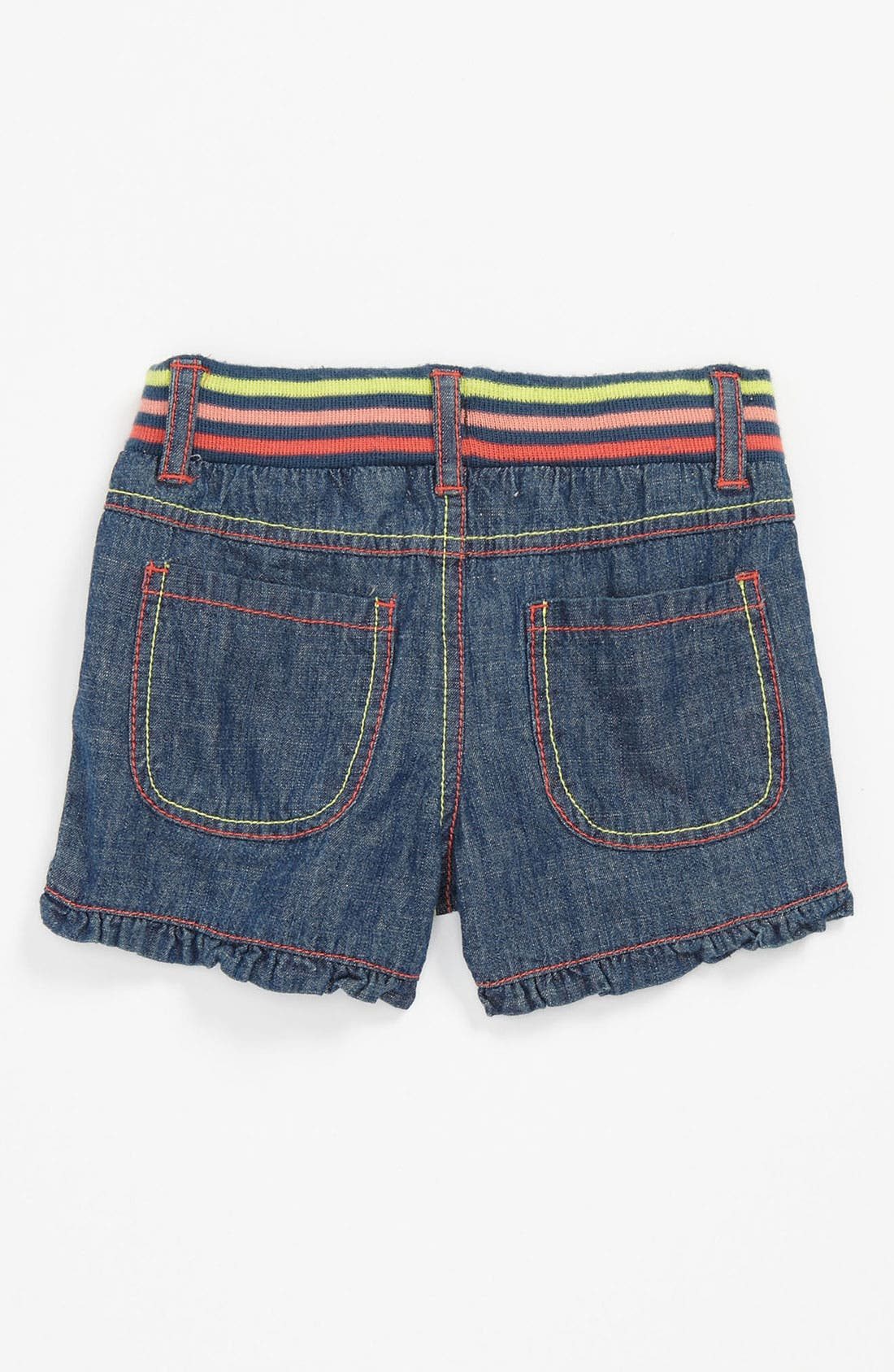 Alternate Image 1 Selected - Pumpkin Patch Denim Shorts (Toddler)