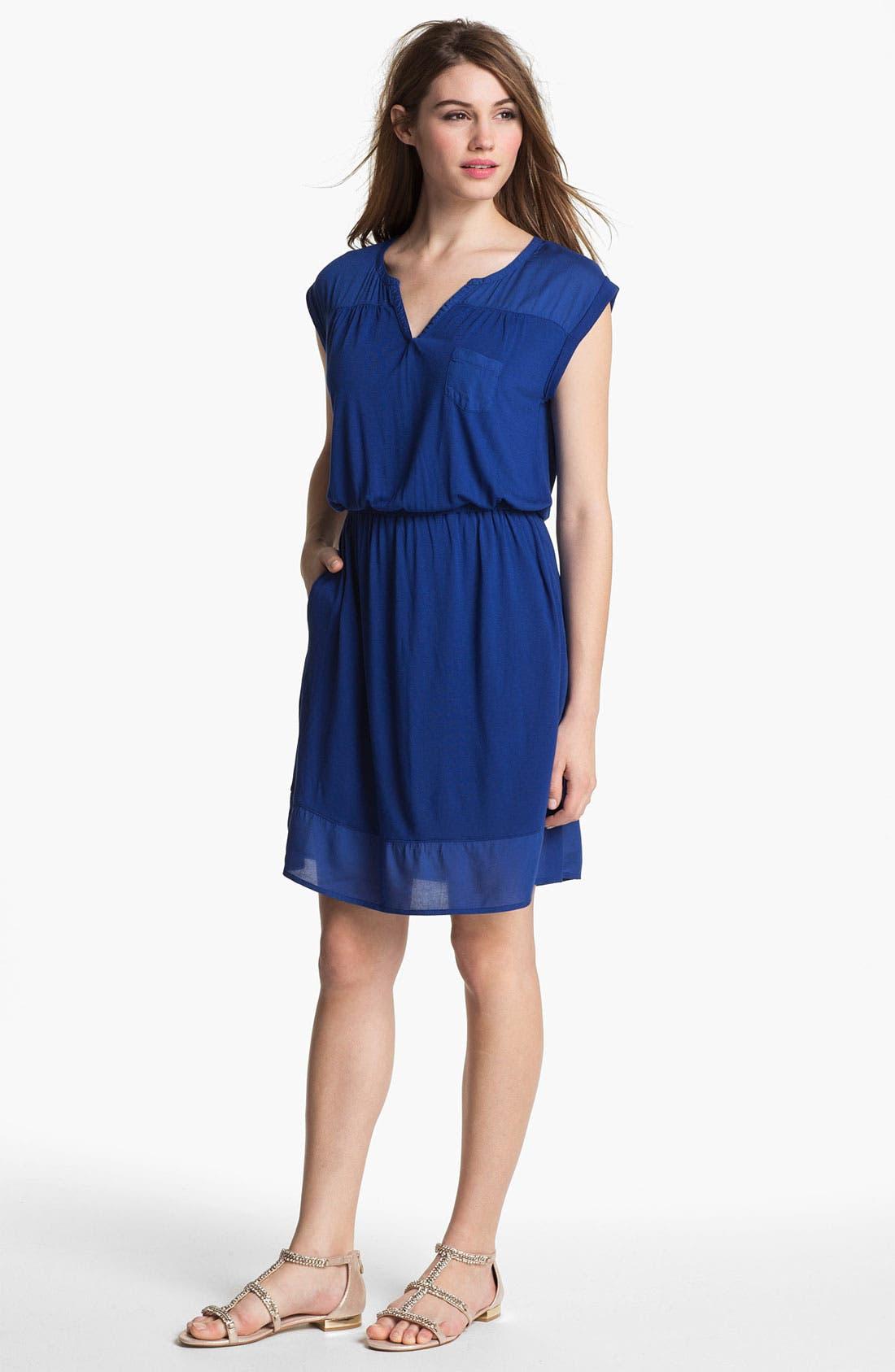 Main Image - Caslon Mixed Media Dress