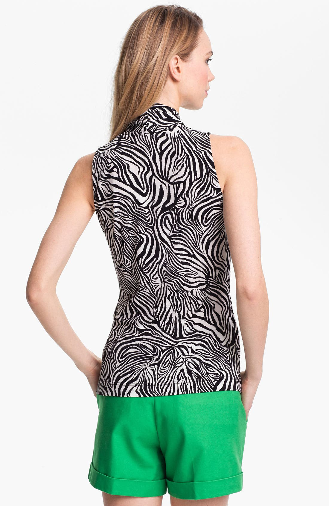 Alternate Image 2  - Vince Camuto Zebra Print Faux Wrap Top