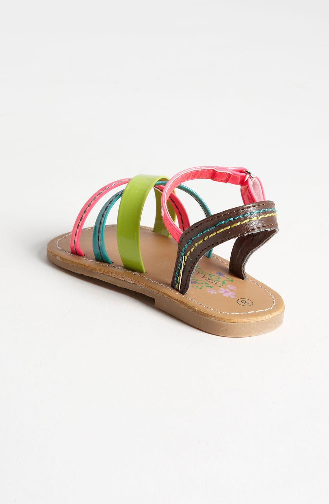 Alternate Image 2  - Laura Ashley 'Neon' Sandal (Walker & Toddler)