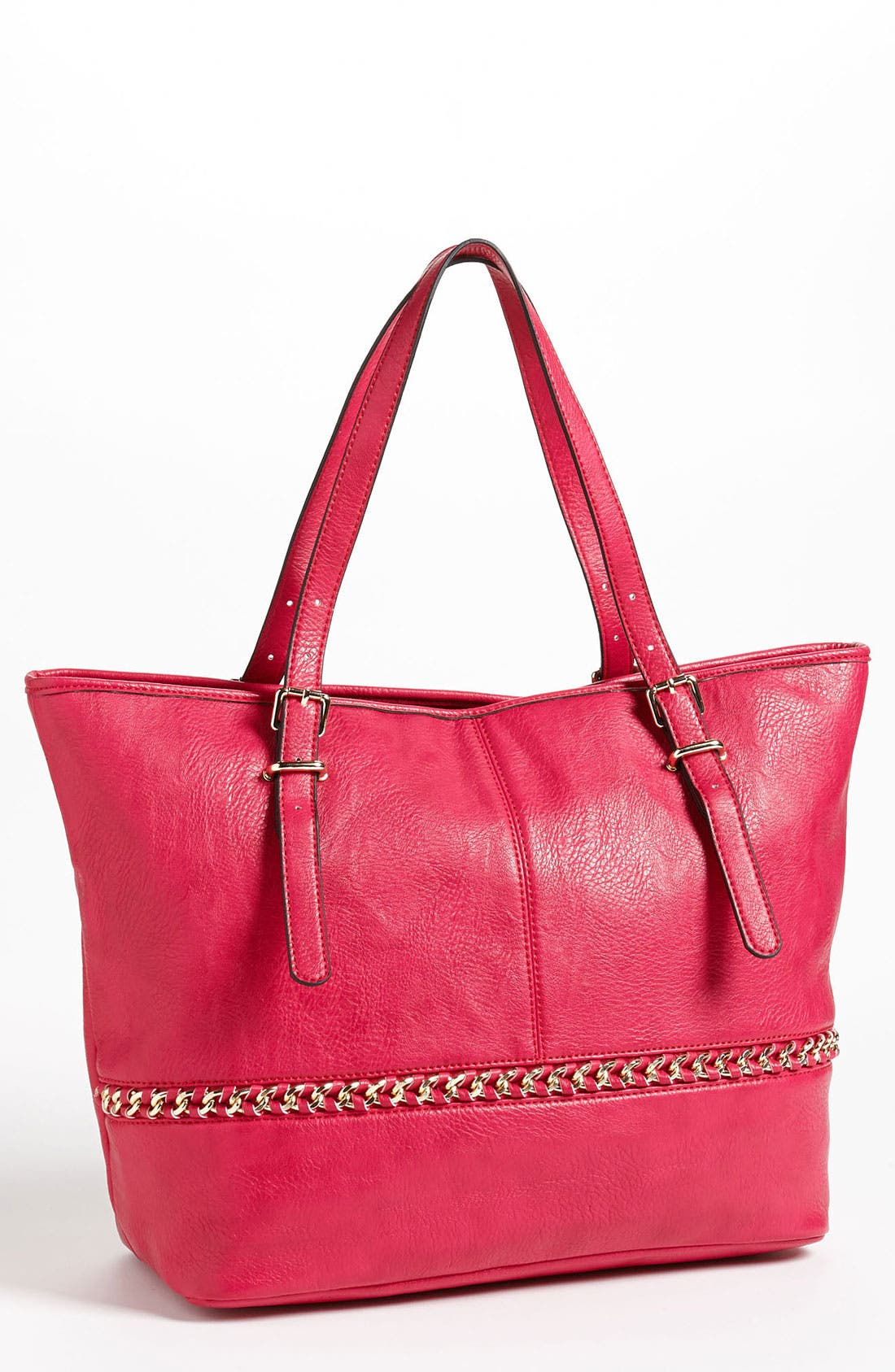 Alternate Image 1 Selected - Cesca 'Super Star' Chain Trim Tote (Online Exclusive)