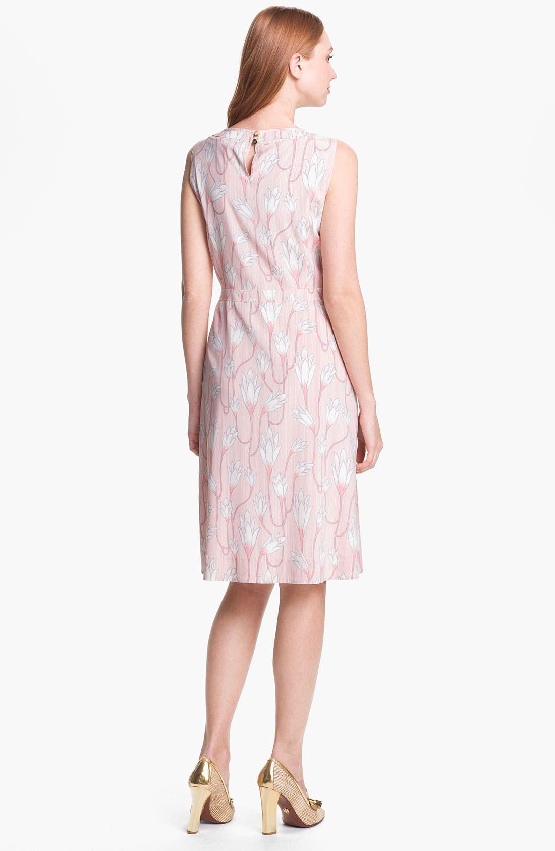 Alternate Image 2  - Tory Burch 'Jena' Stretch Silk A-Line Dress