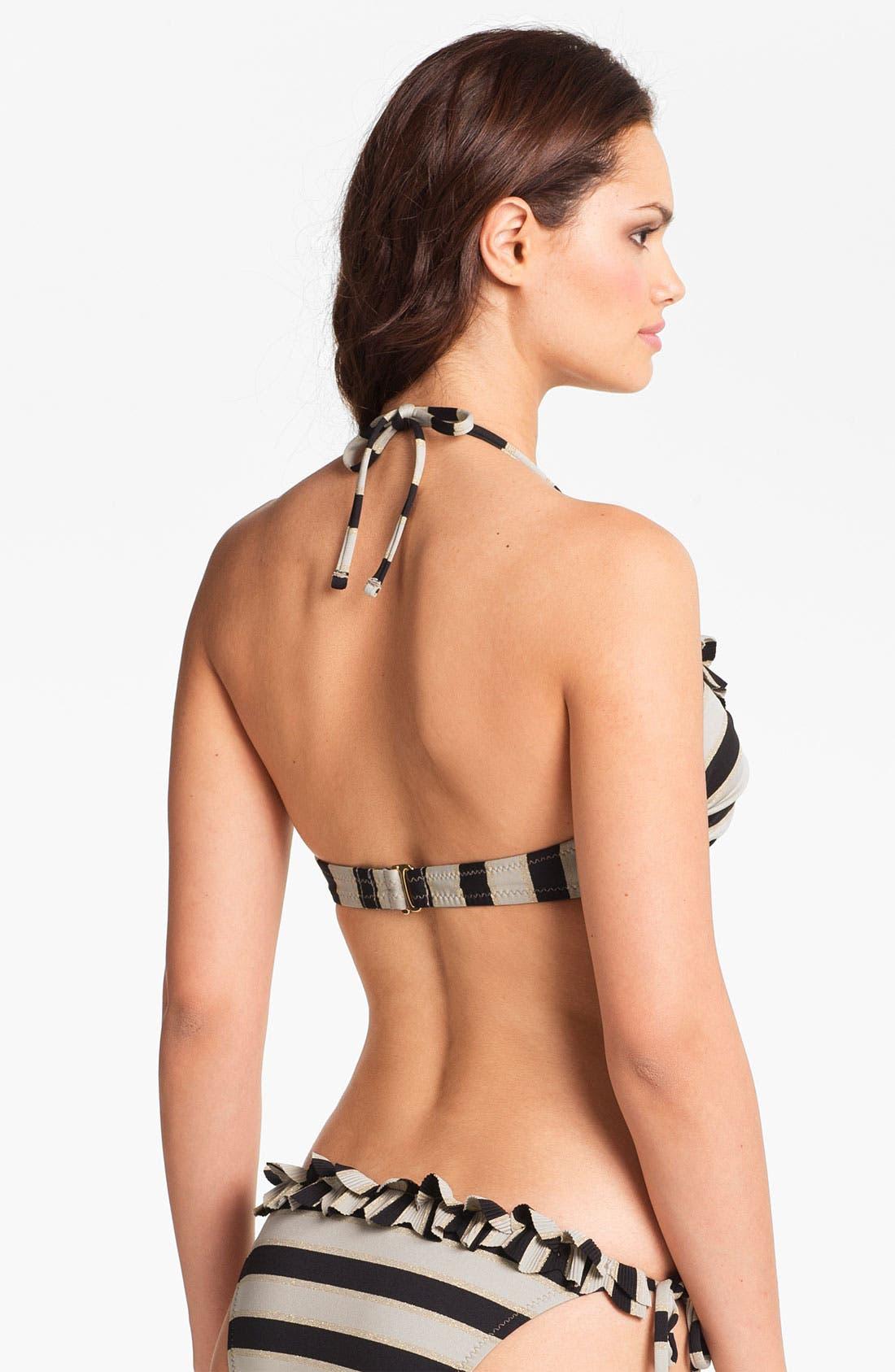 Alternate Image 2  - Betsey Johnson 'Date Night' Halter Bikini Top